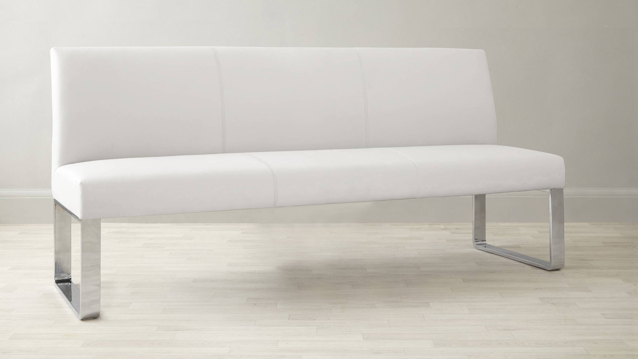 White Leather strong bench