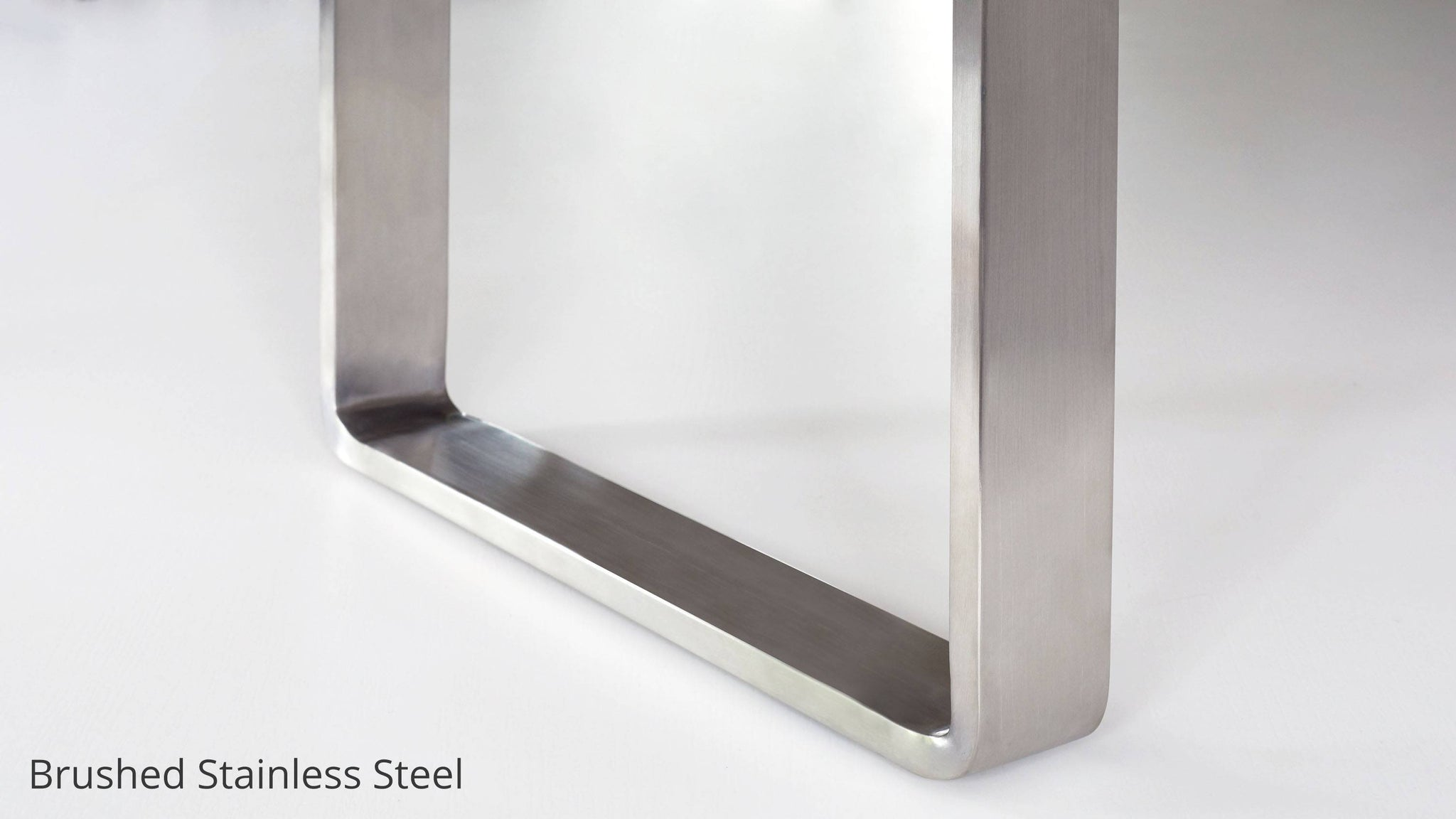 Brushed stainless steel benches