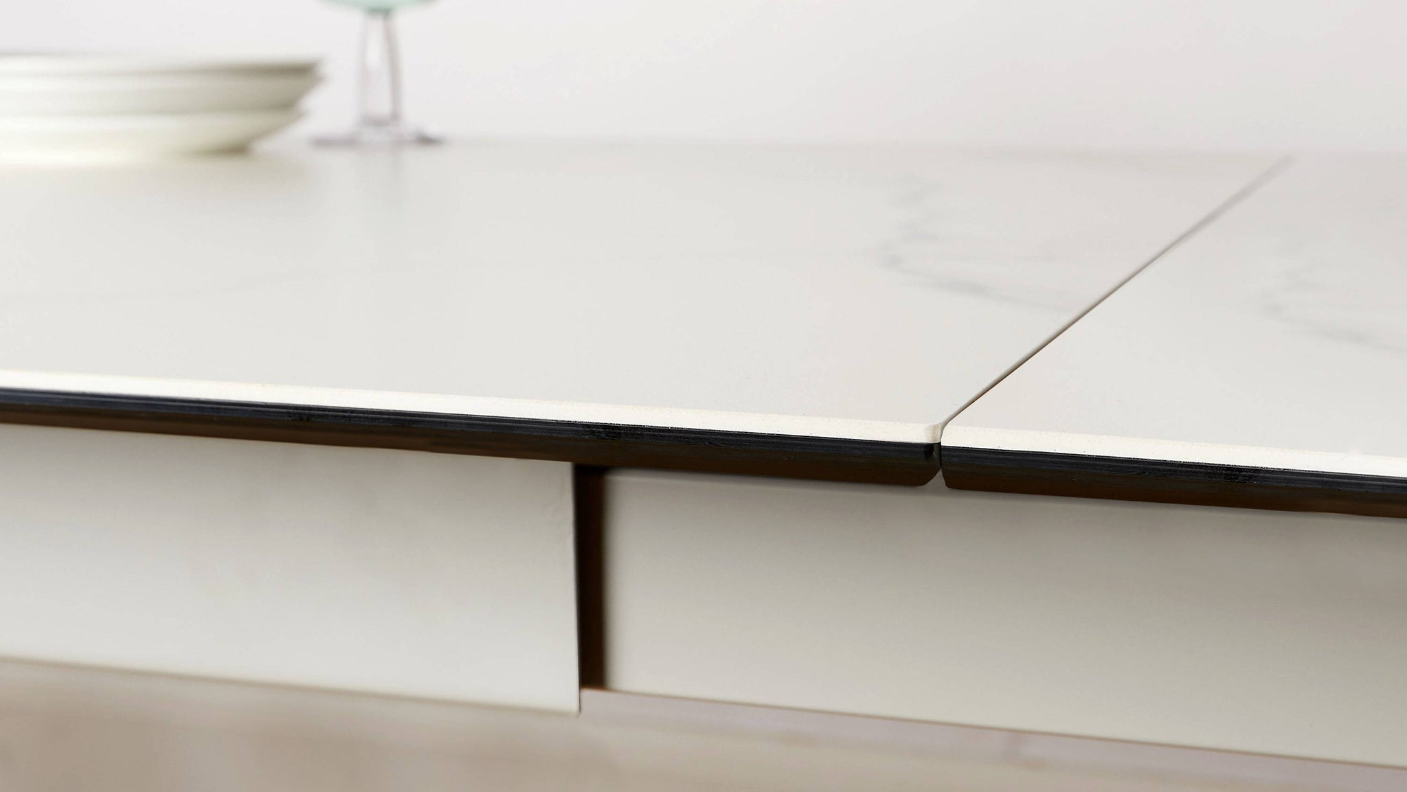 Cool grey extending dining table