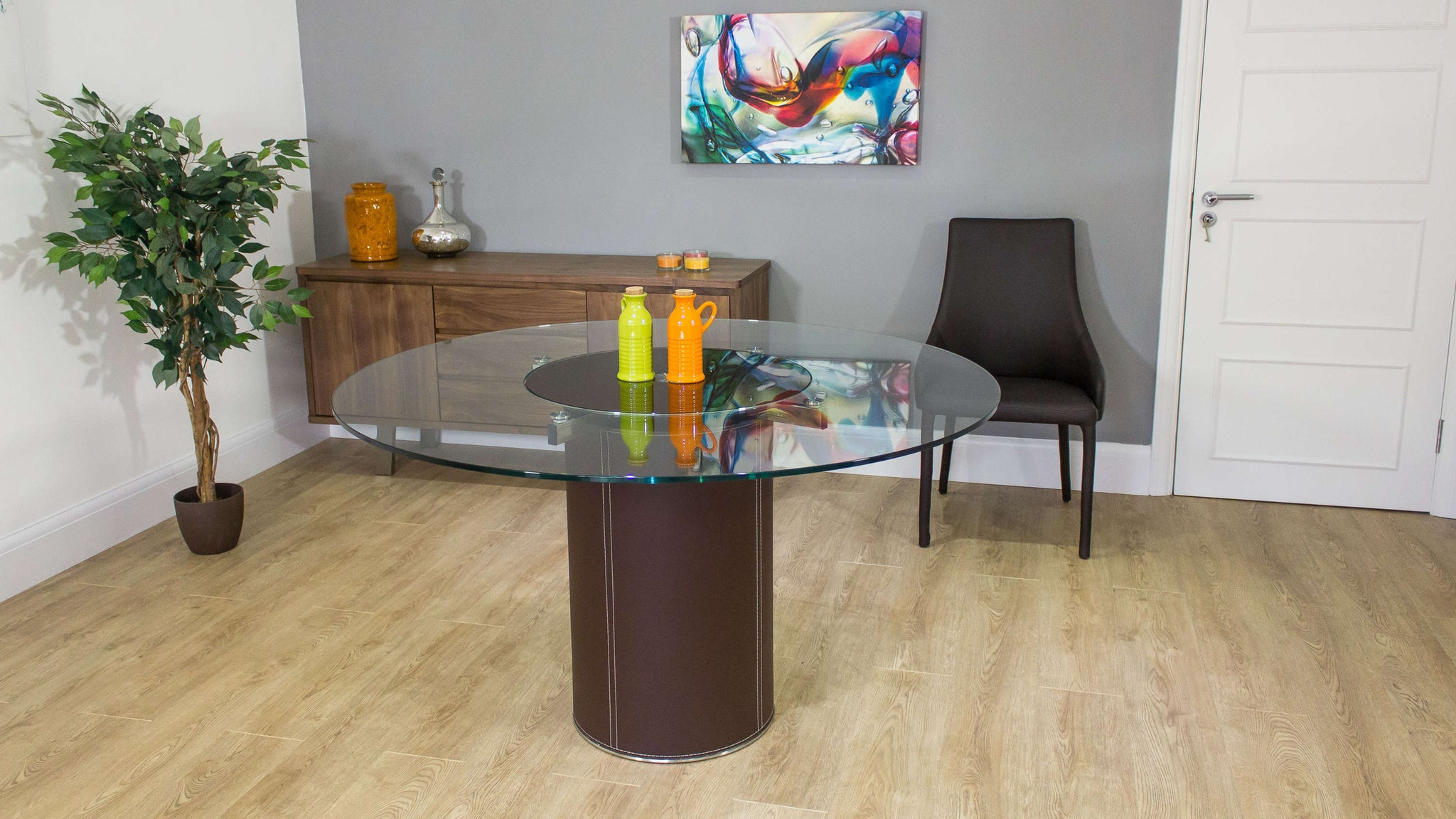 Dining Table with Inbuilt Spinning Centre