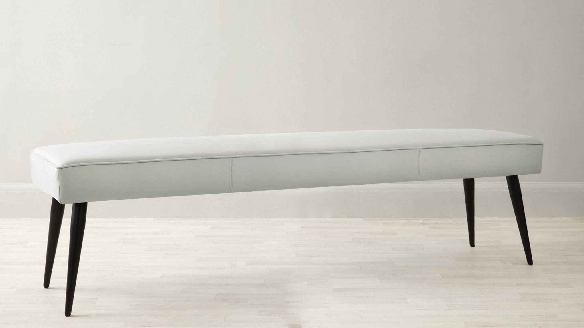White leather bench range