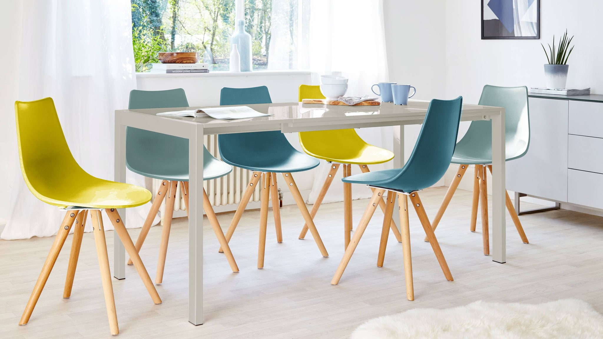 3 size extending dining table multi set