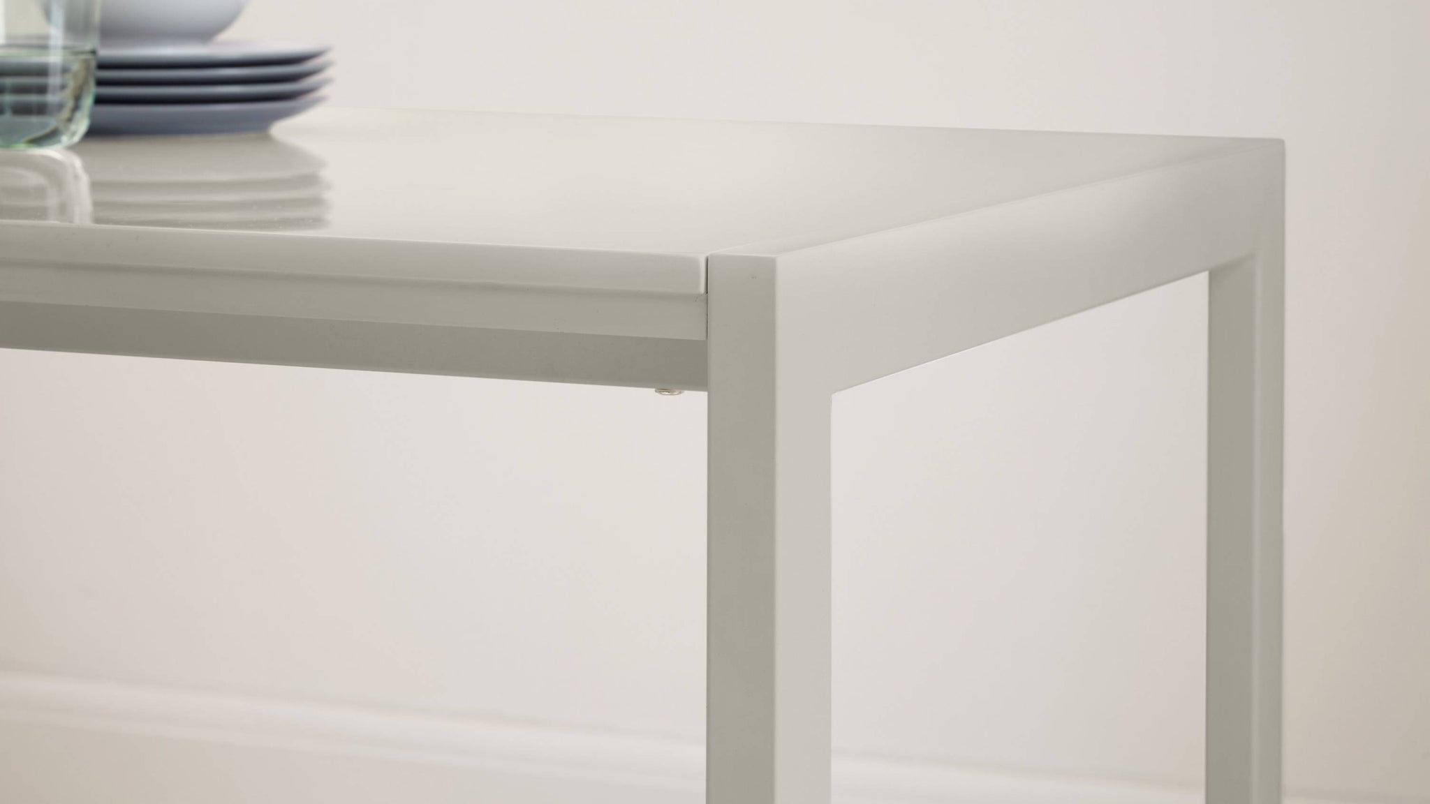 Grey Gloss Extending Table