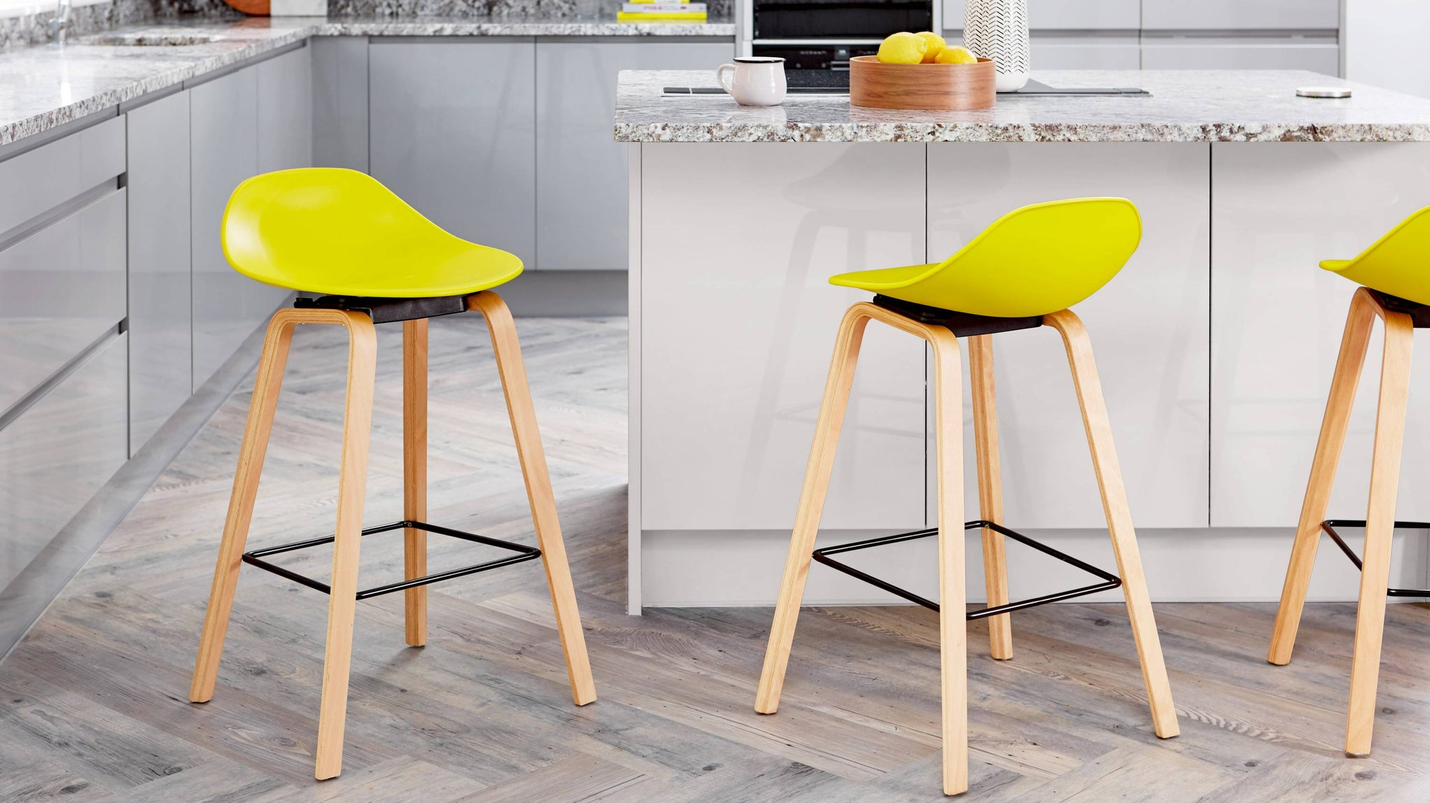 Buy colourful wooden and plastic bar stools