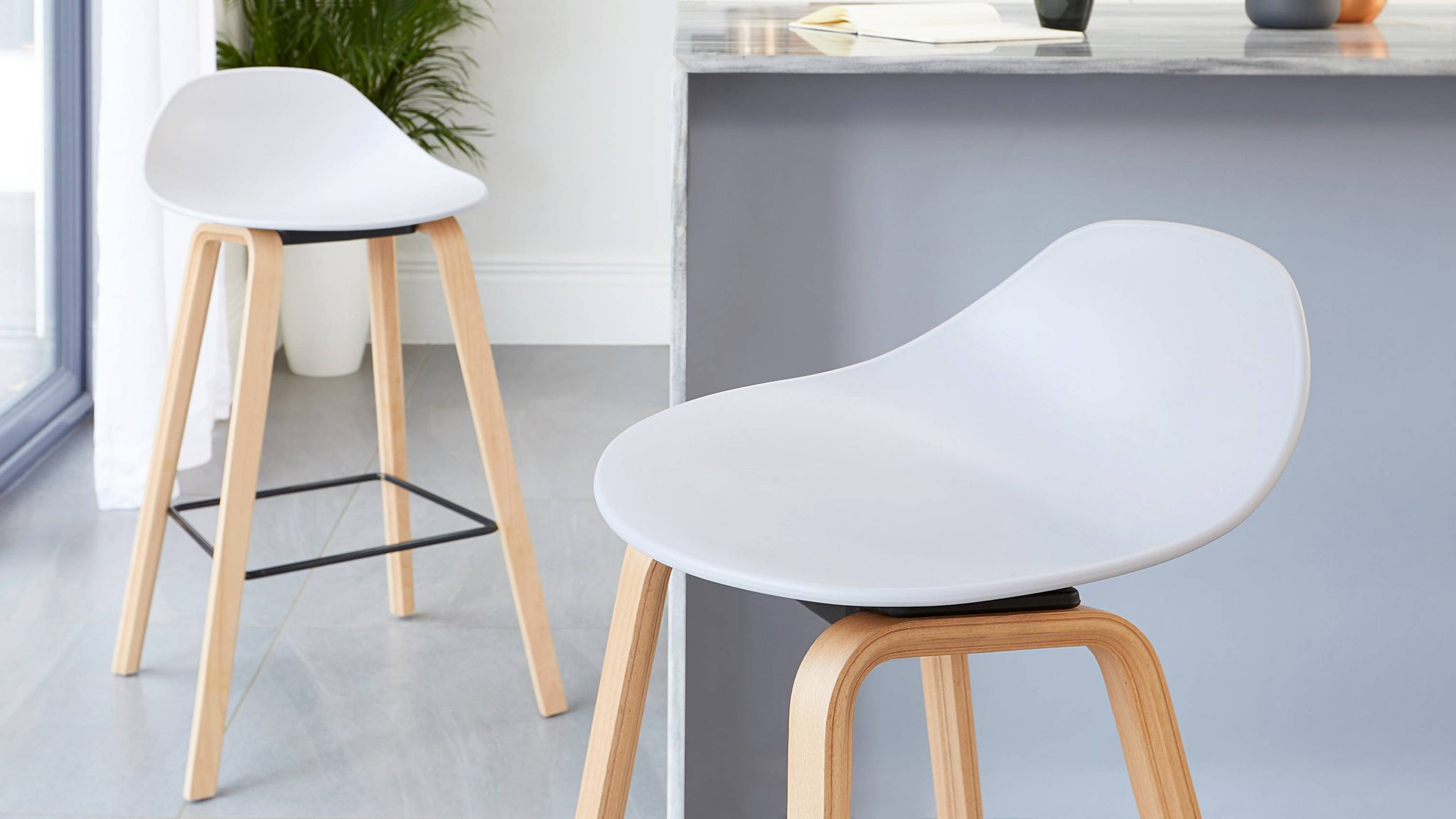 Cool grey bar stools