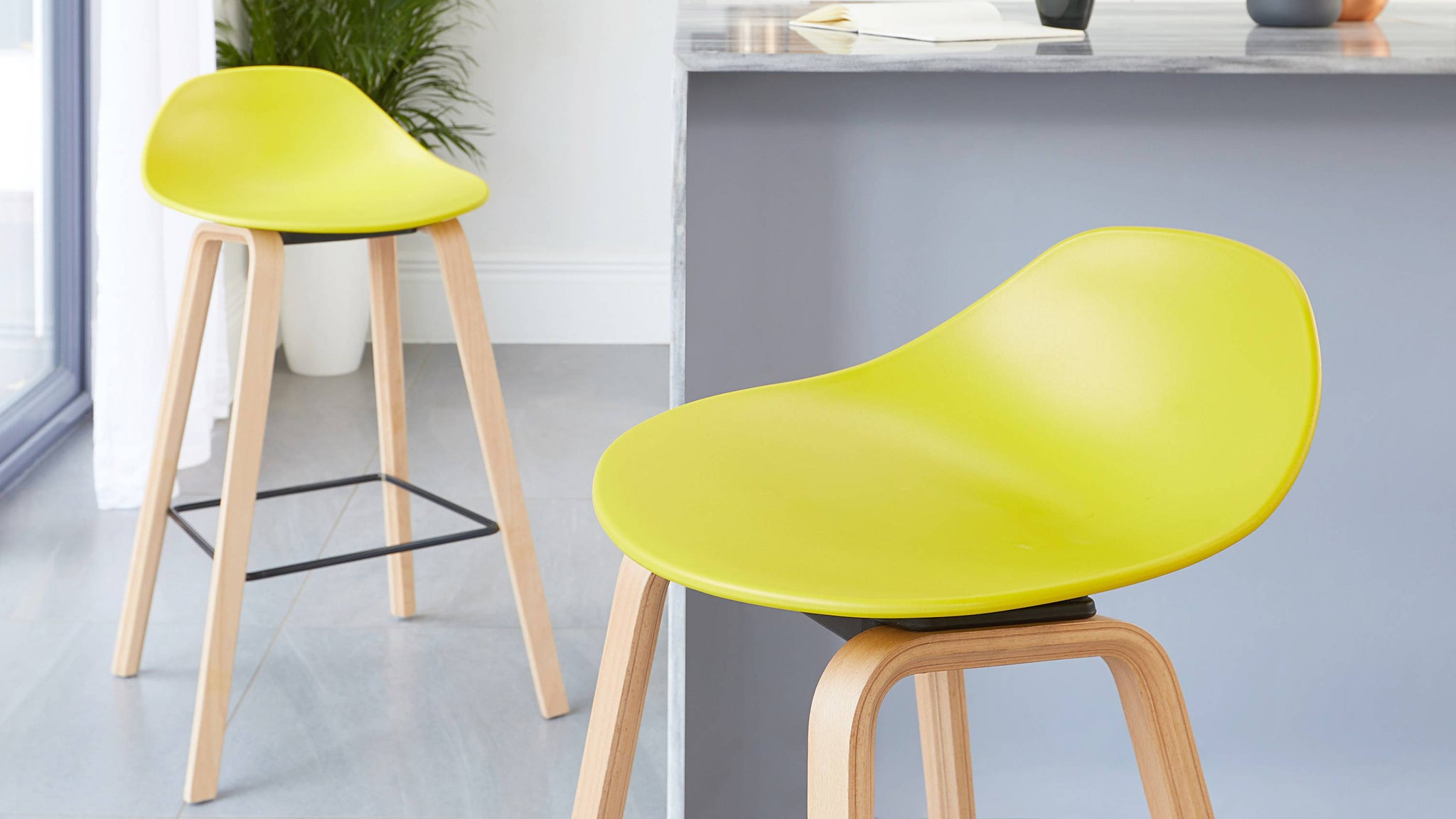 bright scandi design bar stool