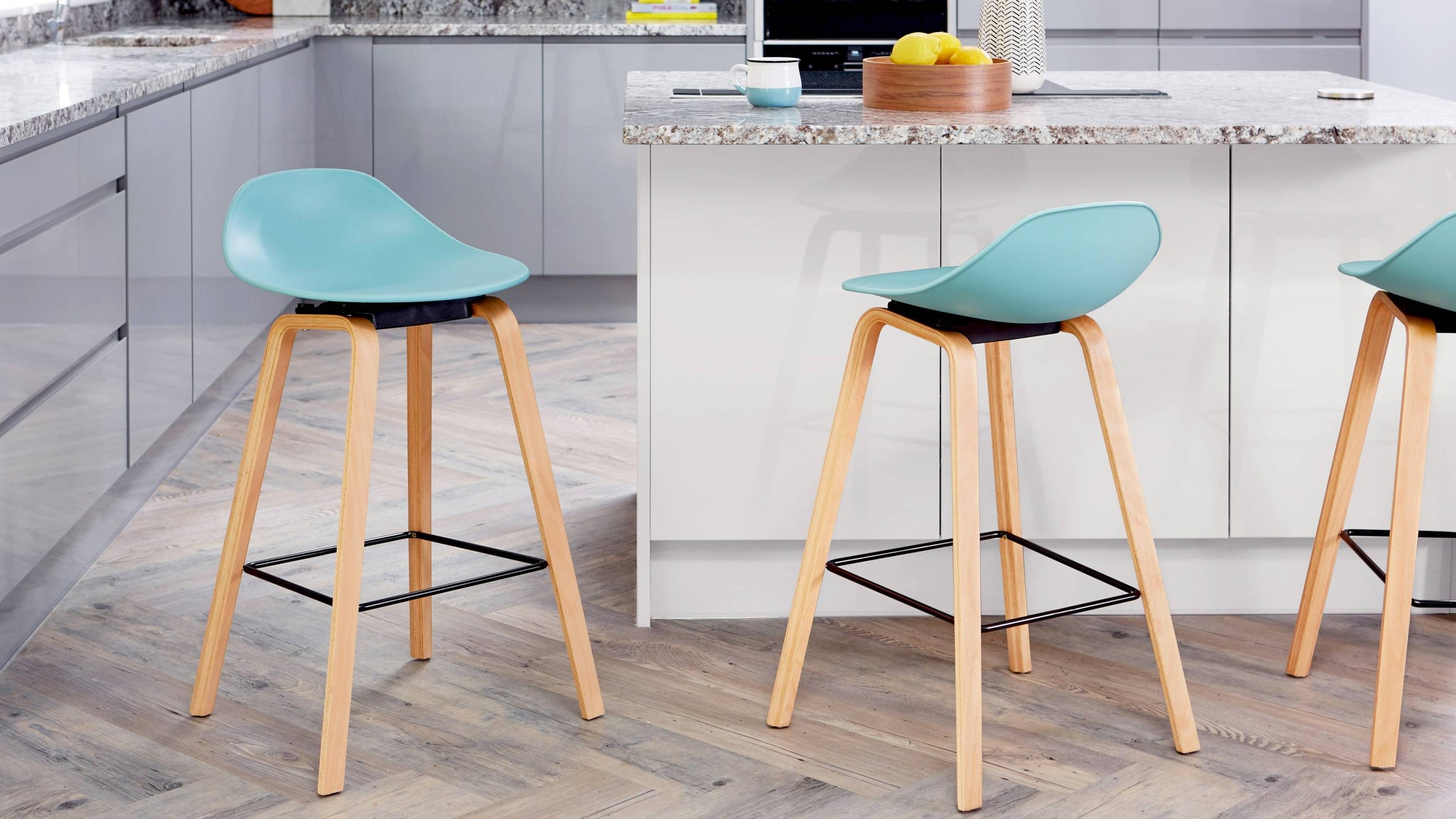 Buy colourful wooden bar stools
