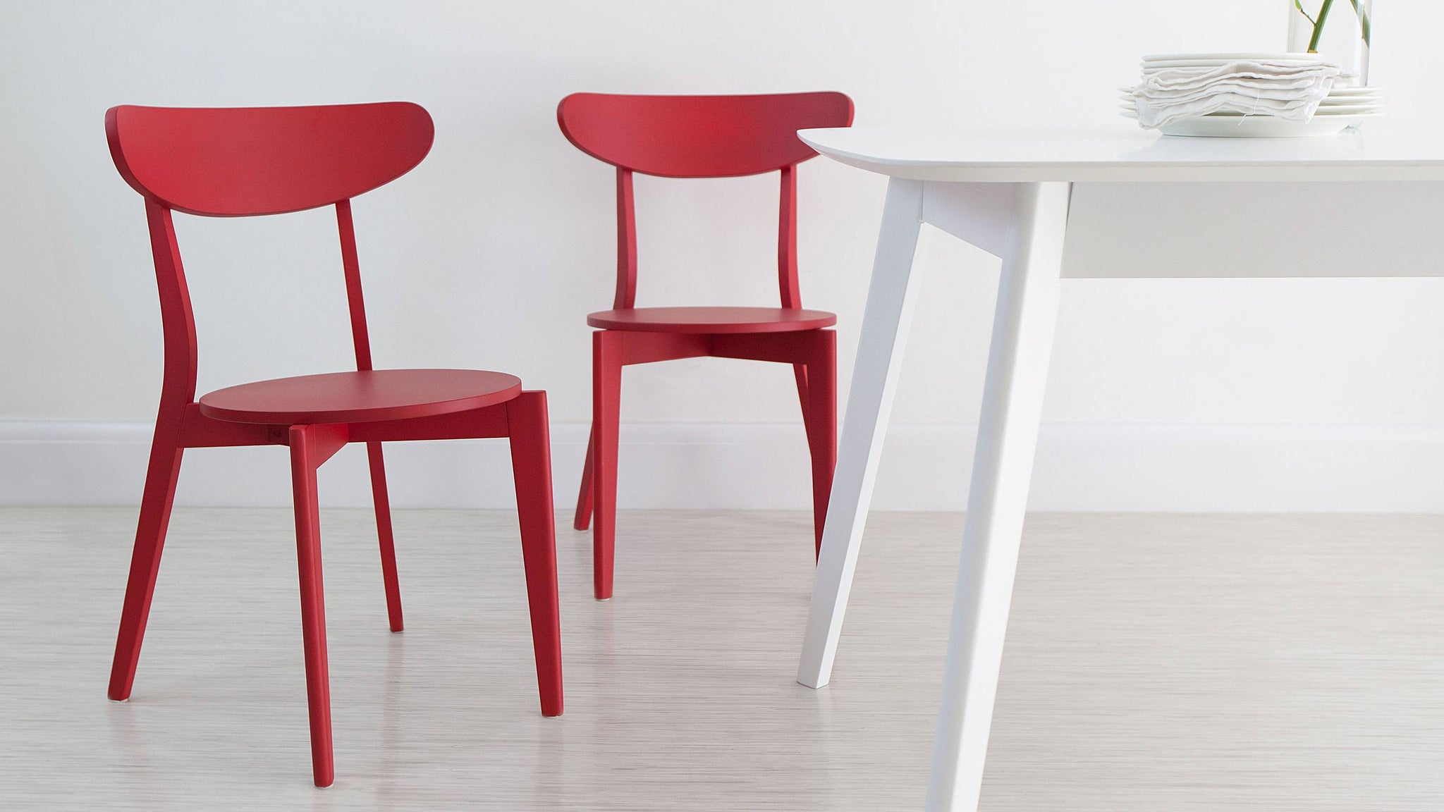 Red Dining chair under £50
