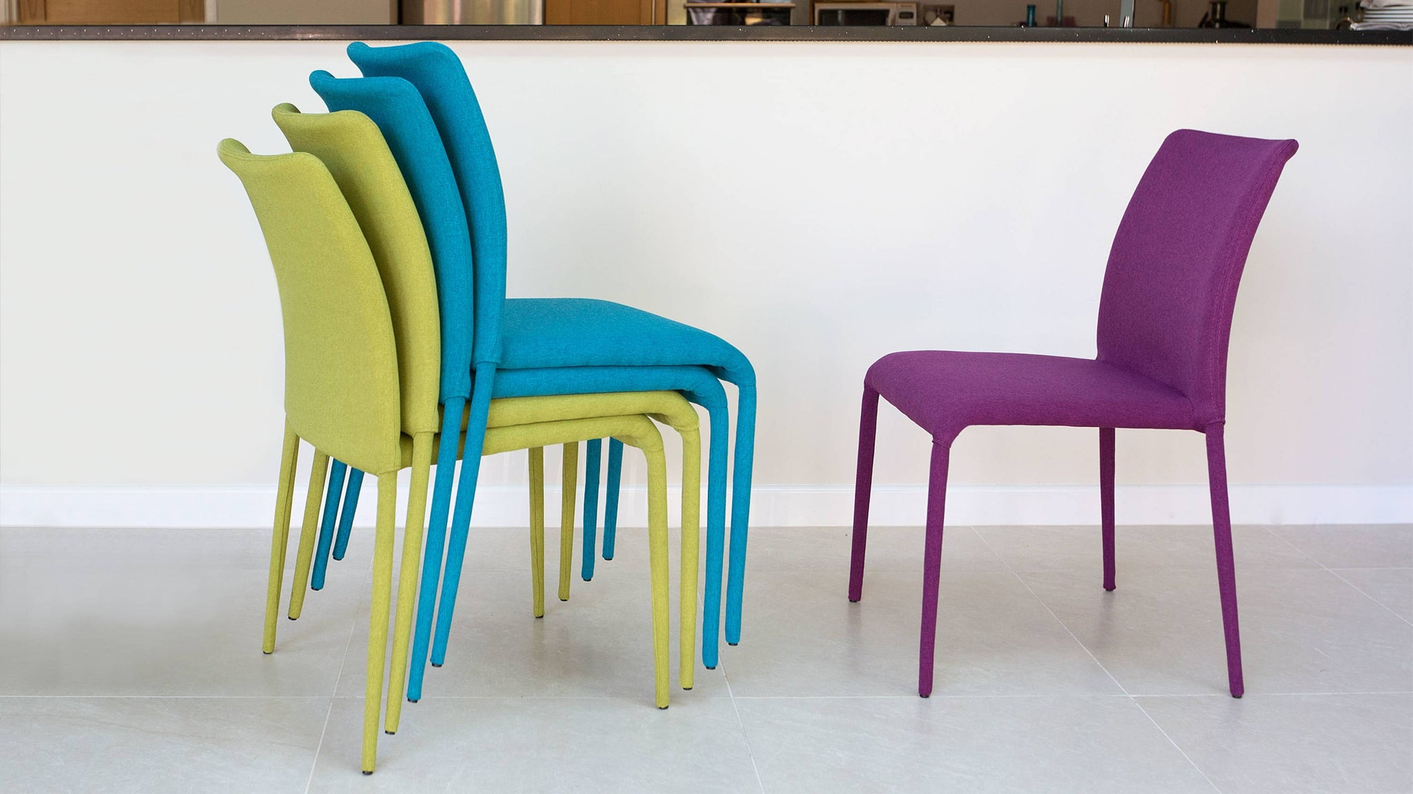 Coloured Stacked Dining Chairs