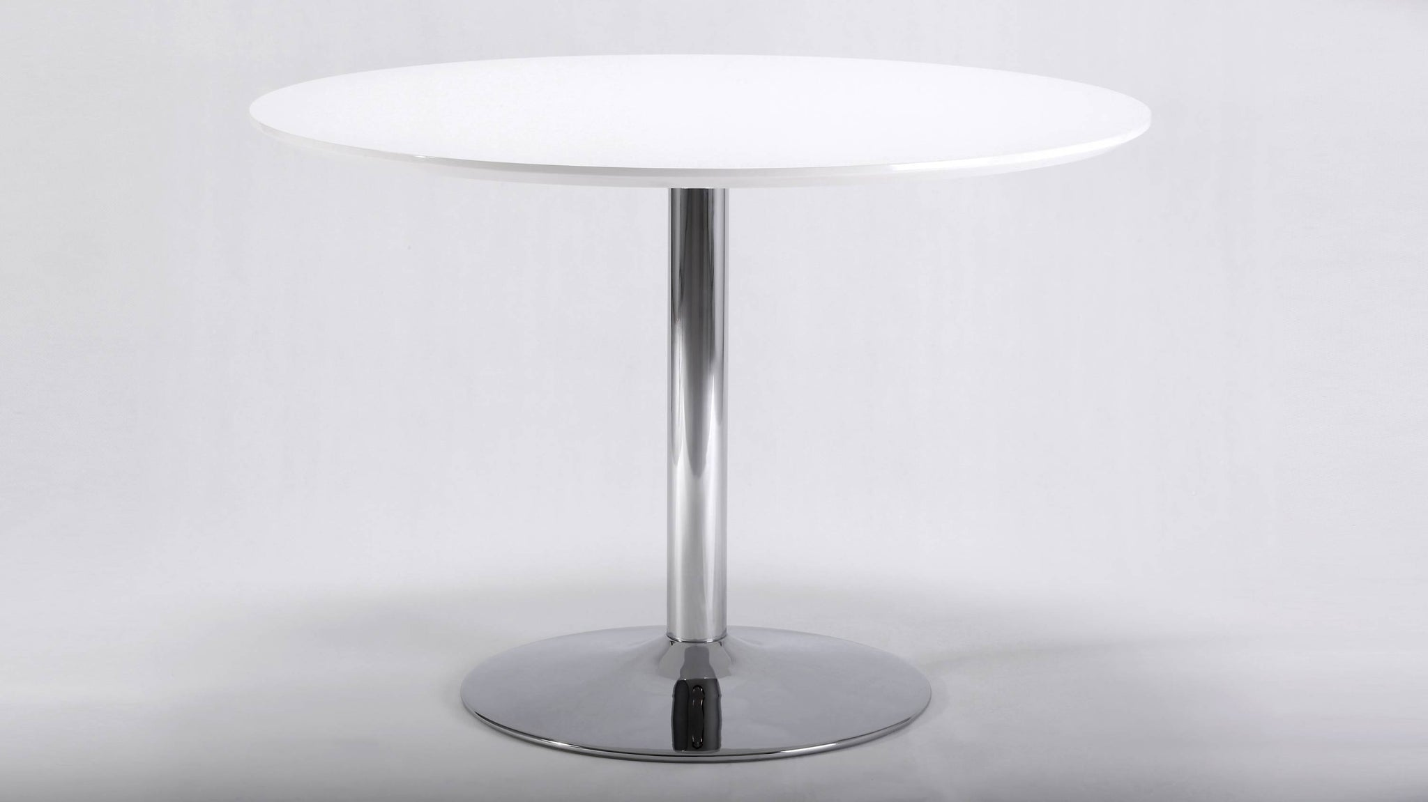 4 Seater Round White Gloss Dining Table