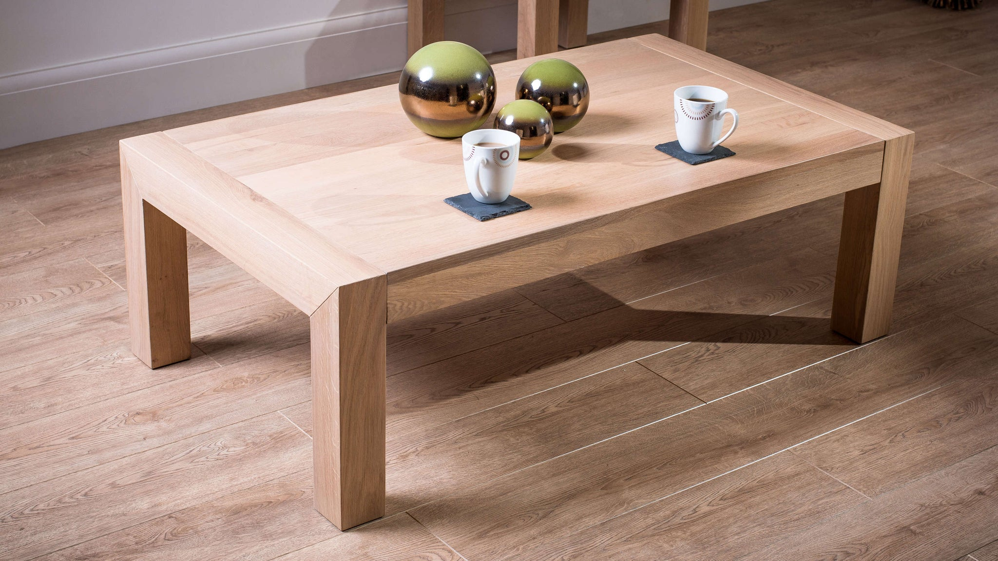 Stylish Light Wooden Coffee Table