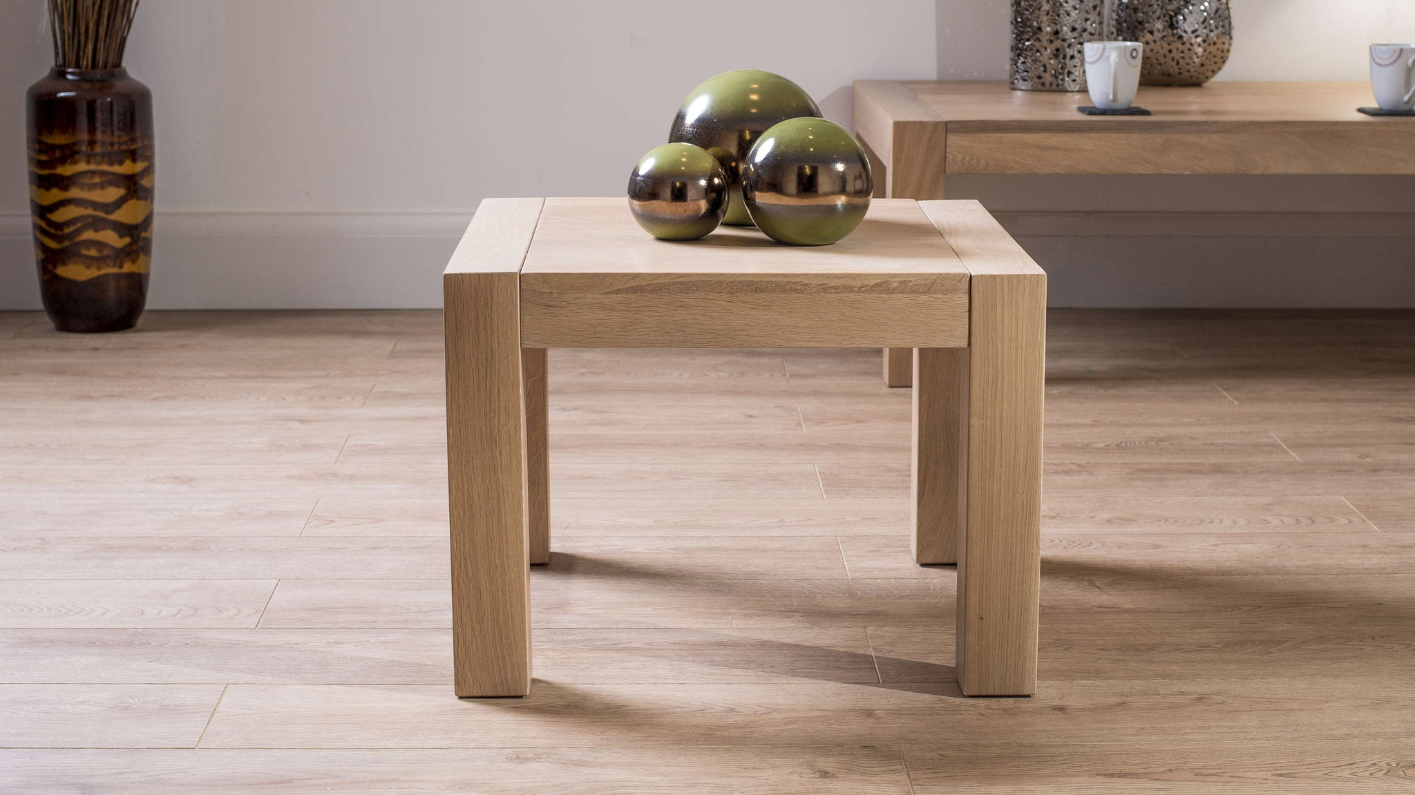 Stylish Small Wooden Lamp Table