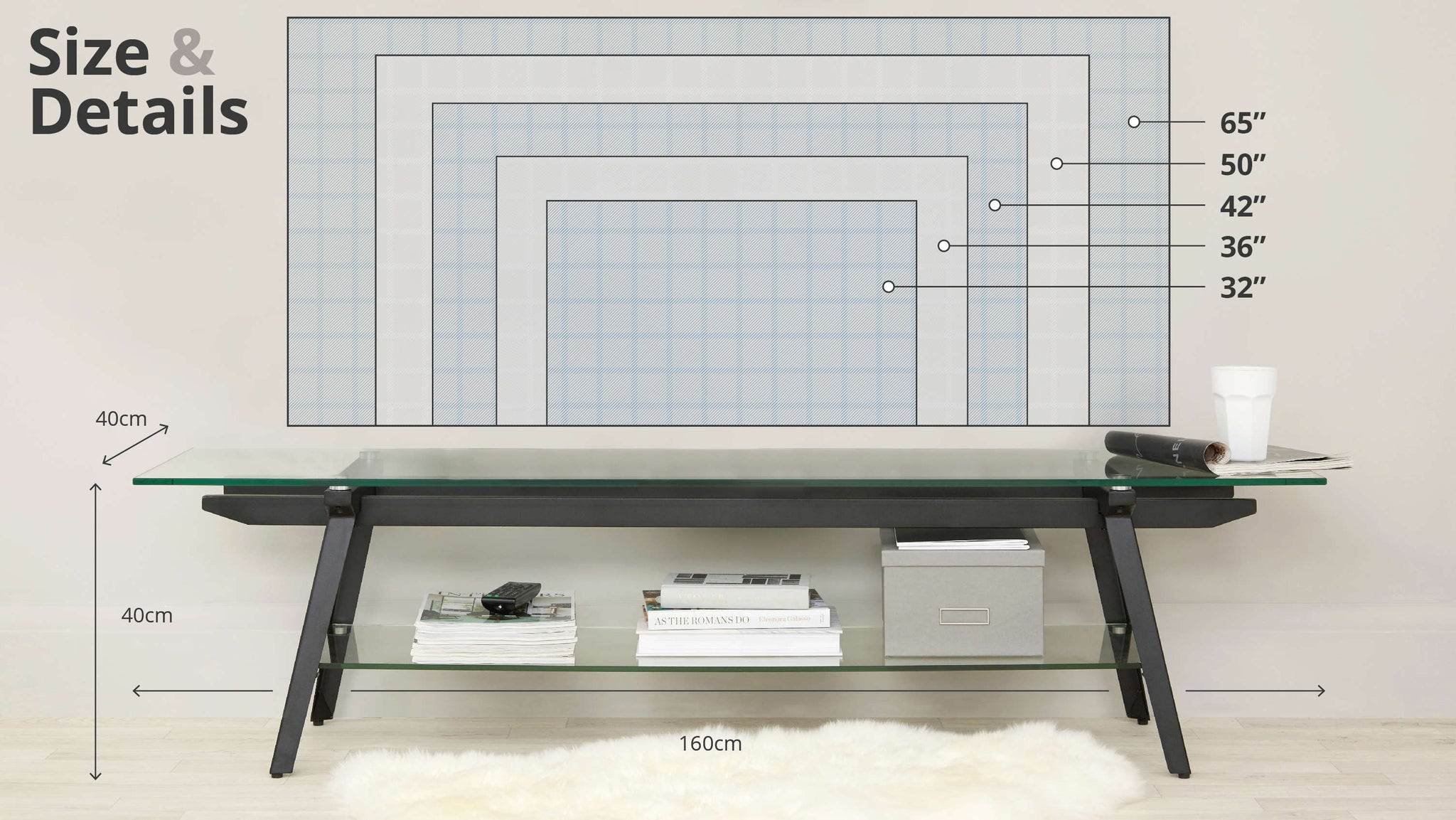 Glass TV Table Size Guide