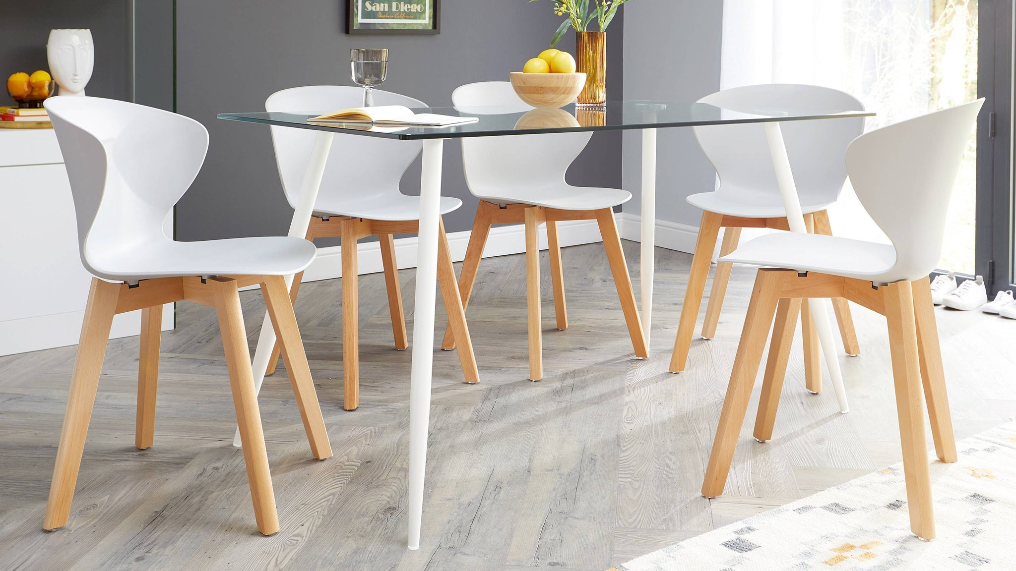Wooden modern kitchen chairs
