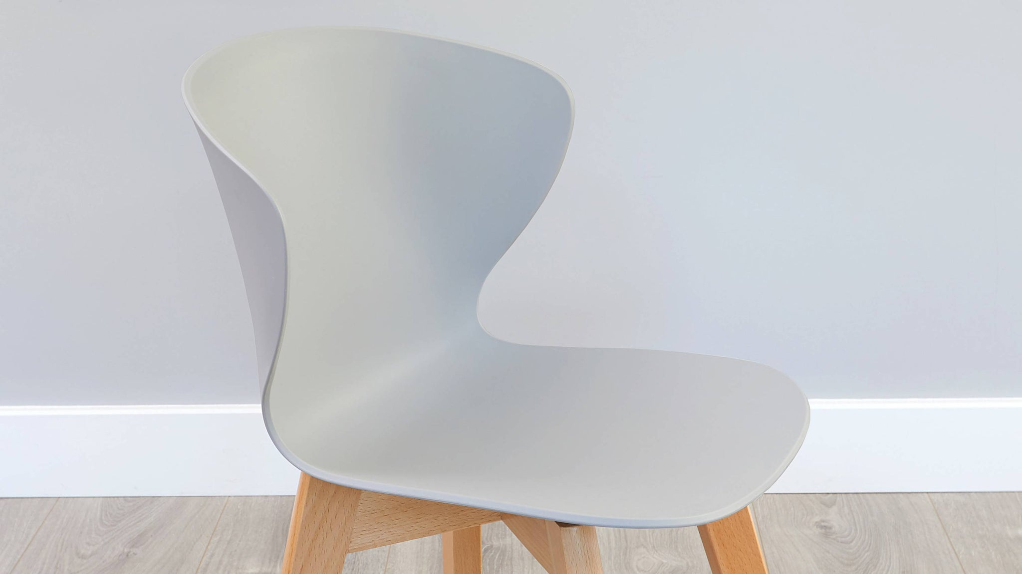 Easy clean plastic and wooden dining chair