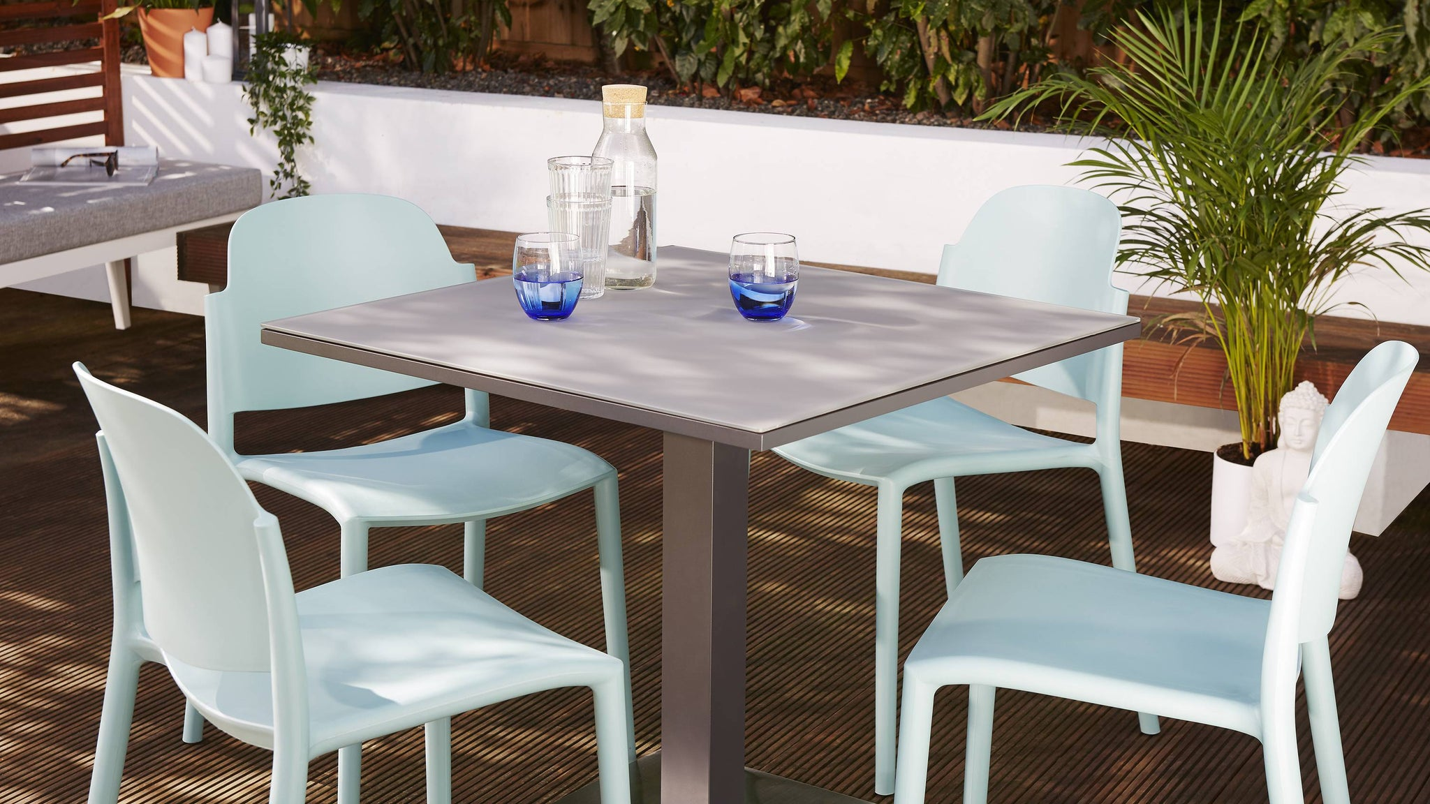 Weatherproof garden dining set