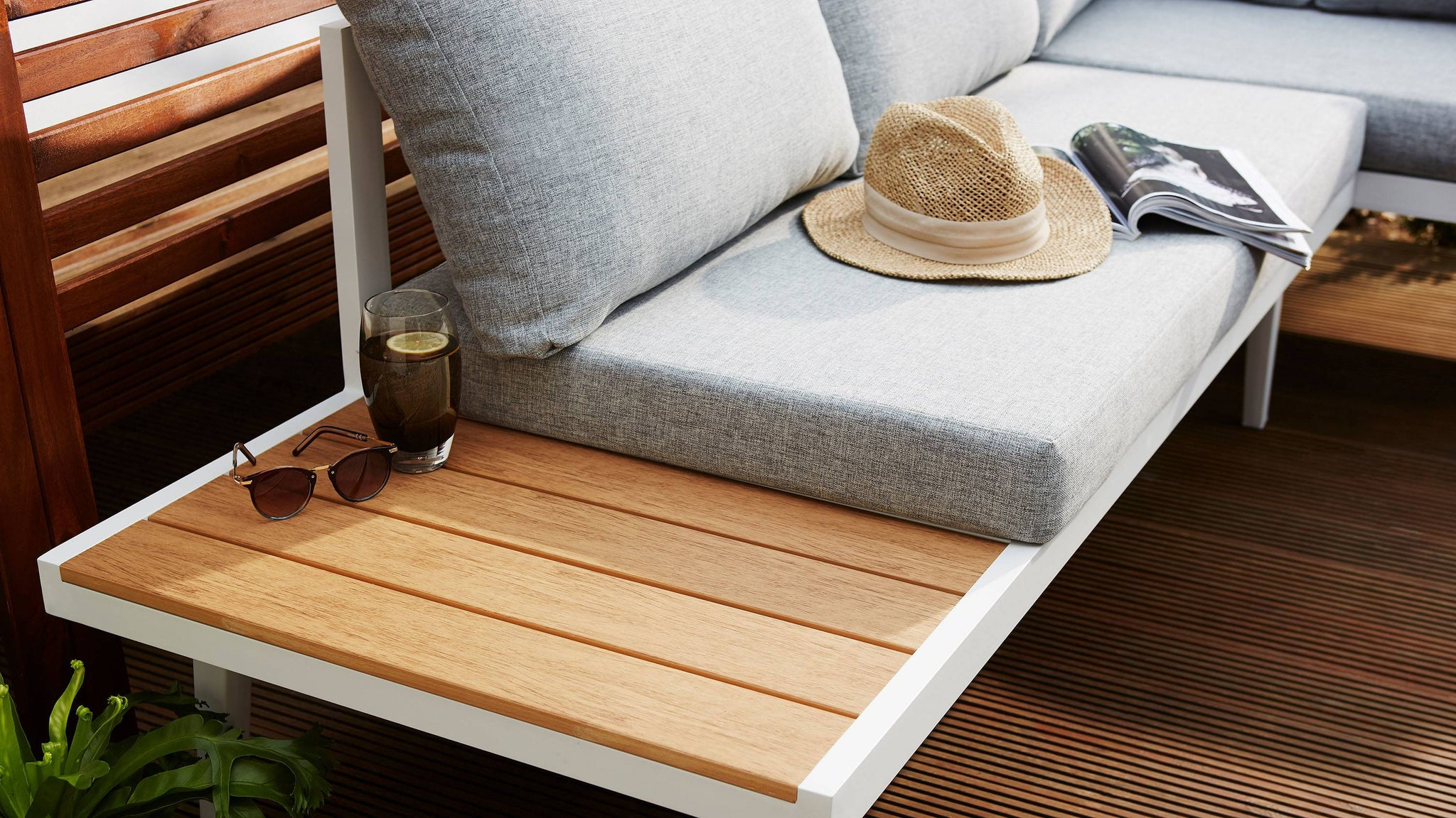 Wooden weatherproof outdoor furniture