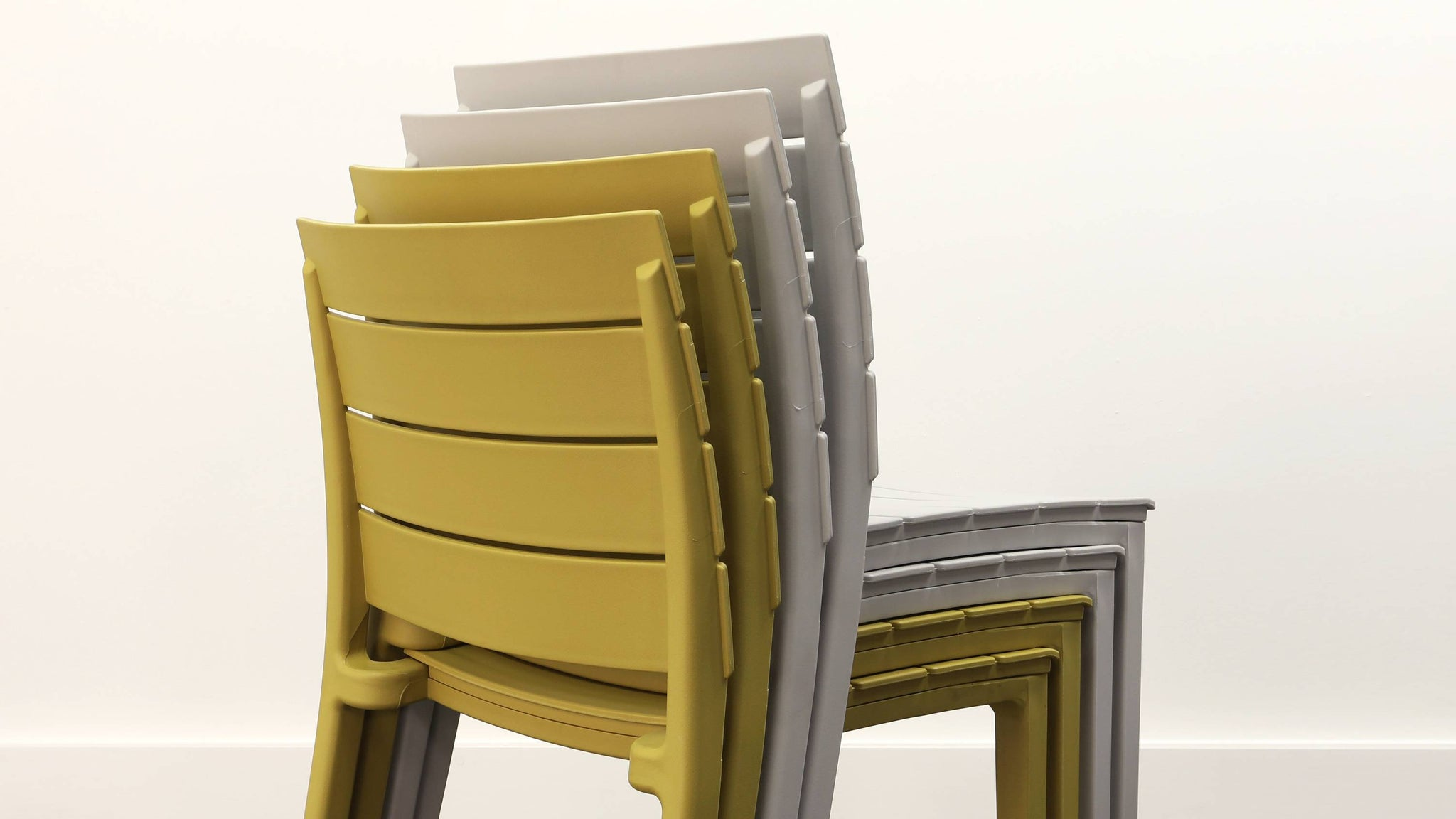 Stacking garden chairs