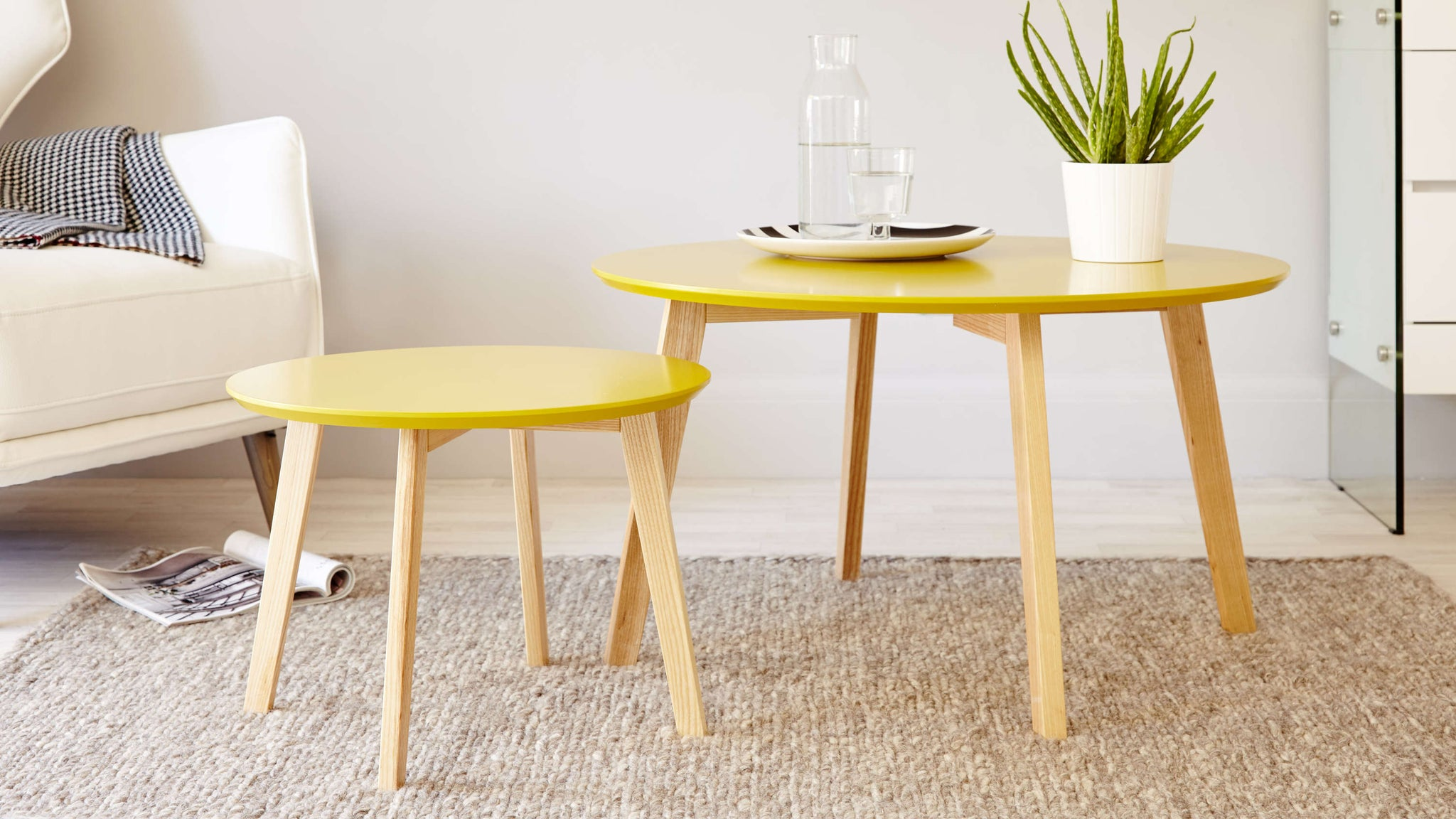 Yellow Modern Coffee Table