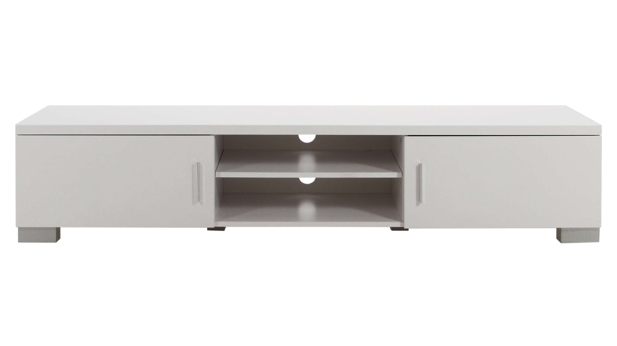 Contemporary TV Table in White Gloss
