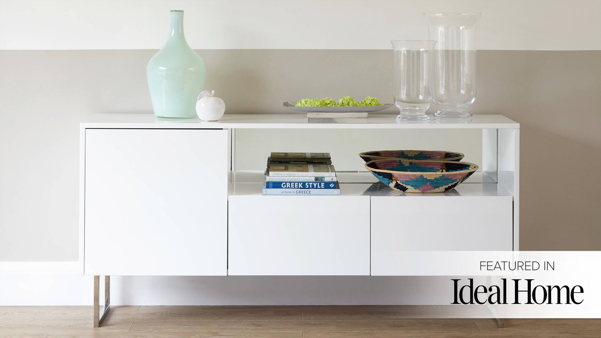 reflect white gloss sideboard ideal home feature