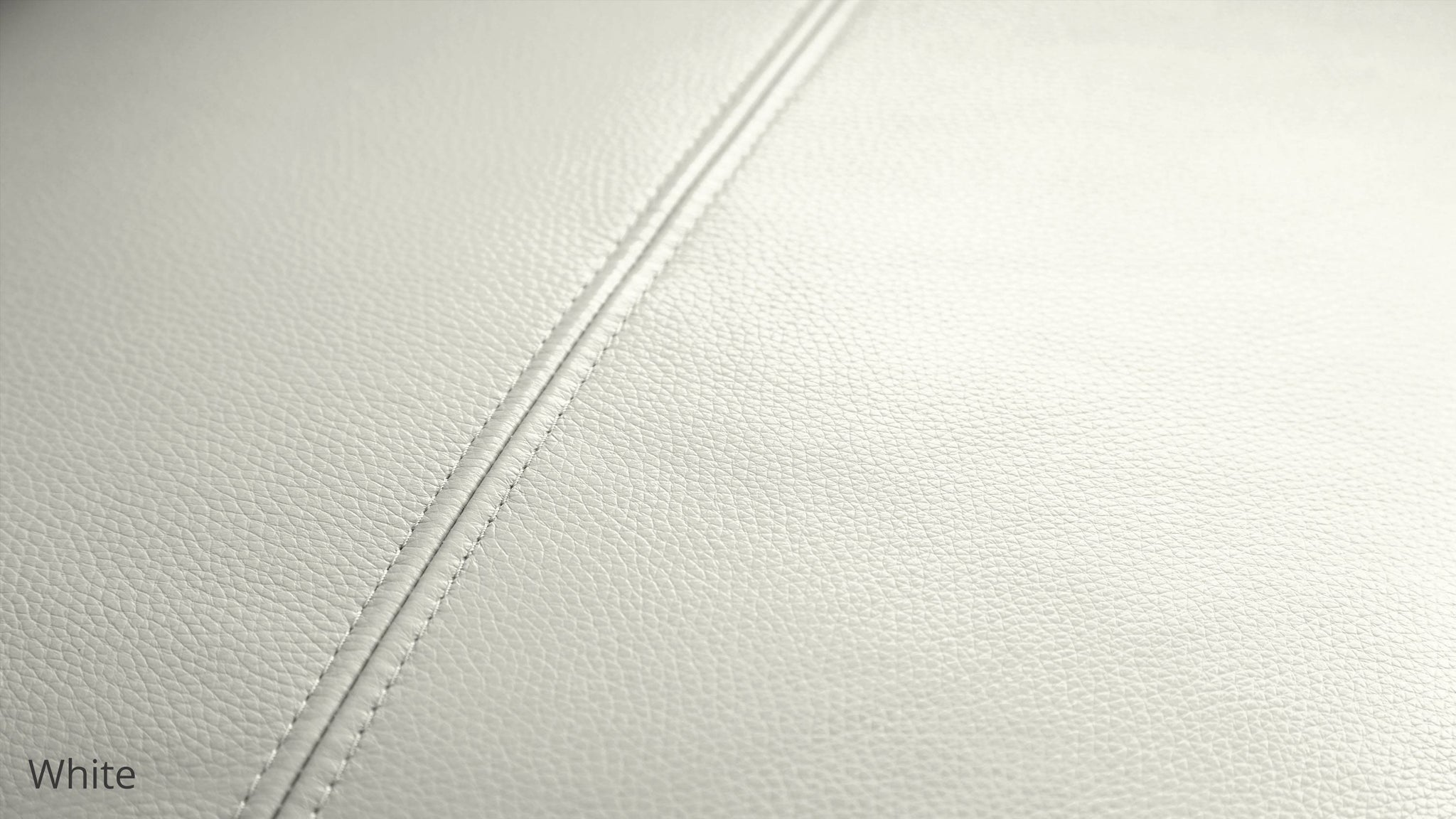 Modern White Leather