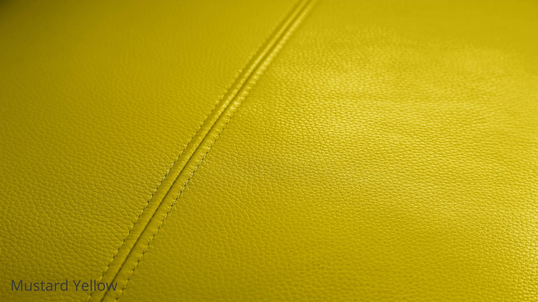 Modern Mustard Yellow Leather