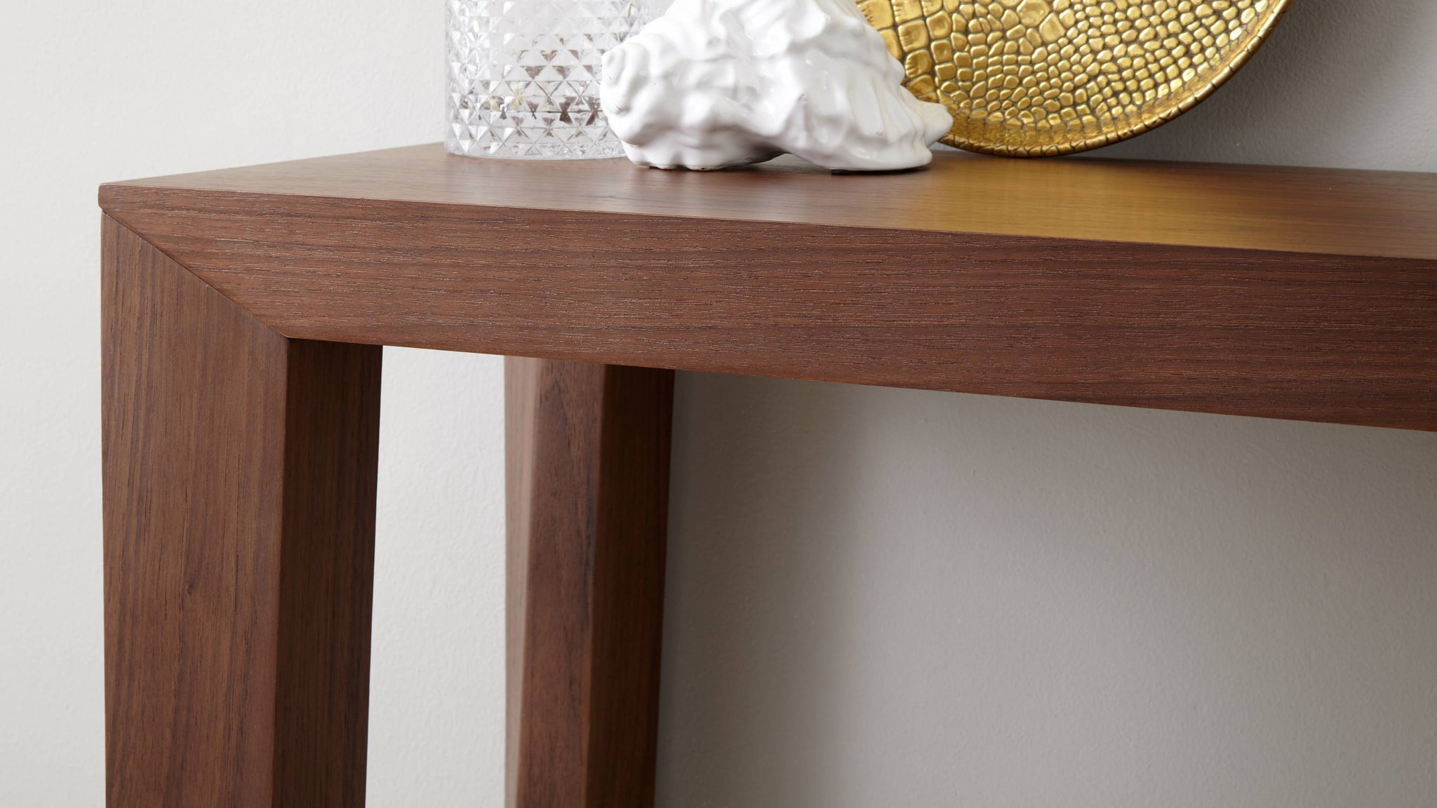 Modern Walnut Strong Console Table
