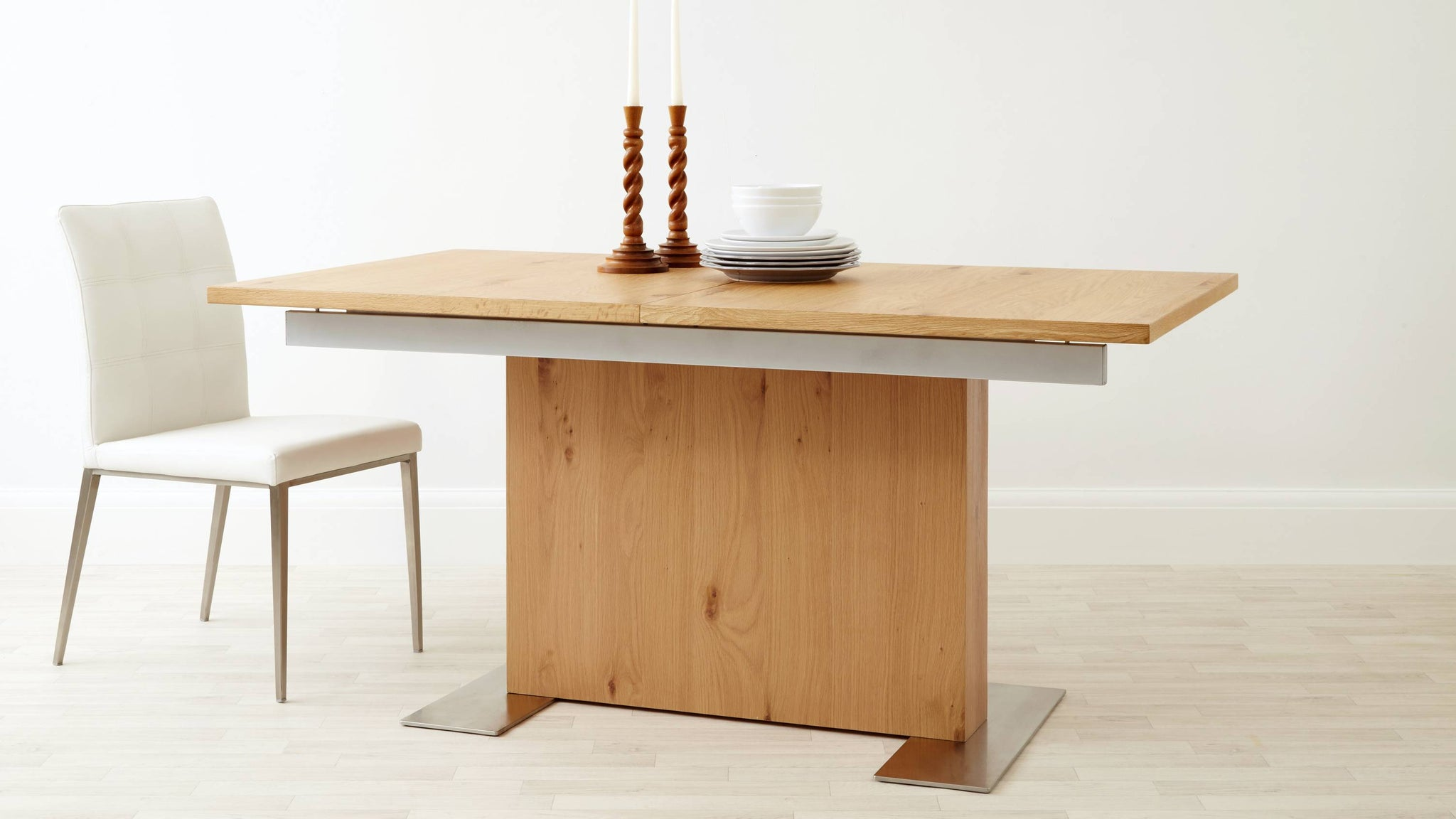 Family Extending Wood Dining Table