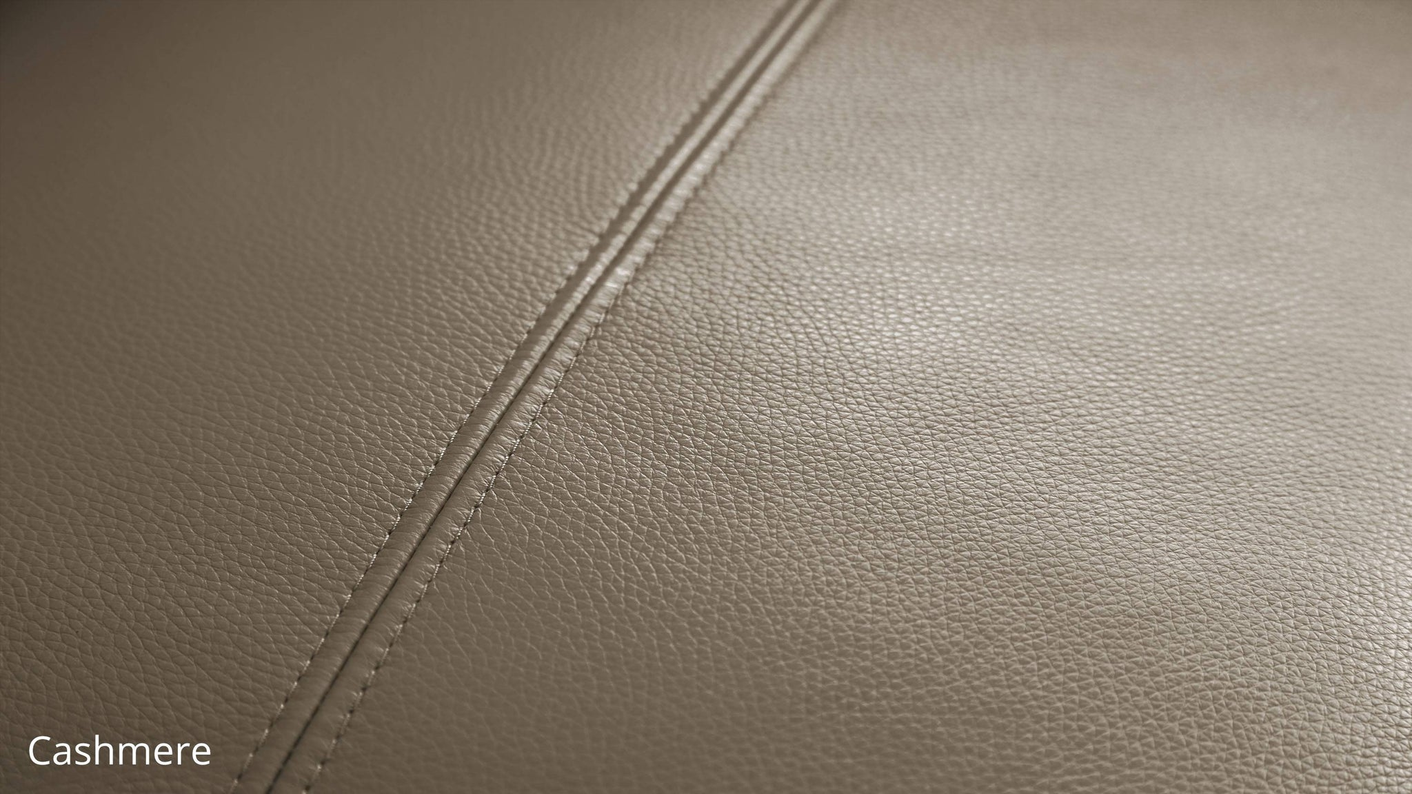 Cashmere leather sofa