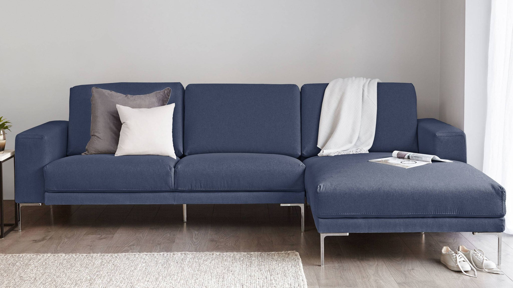 Studio 3 Seater Right Hand Fabric Sofa with Chaise