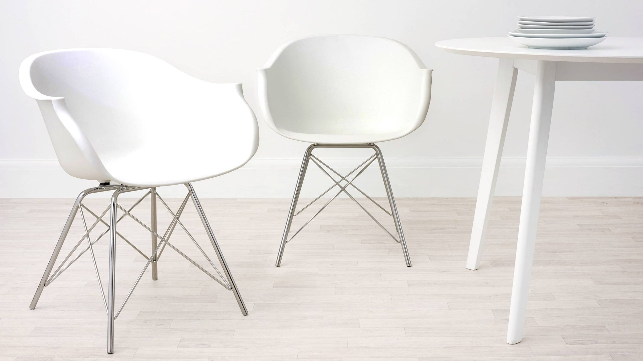 White Stylo Dining Armchair
