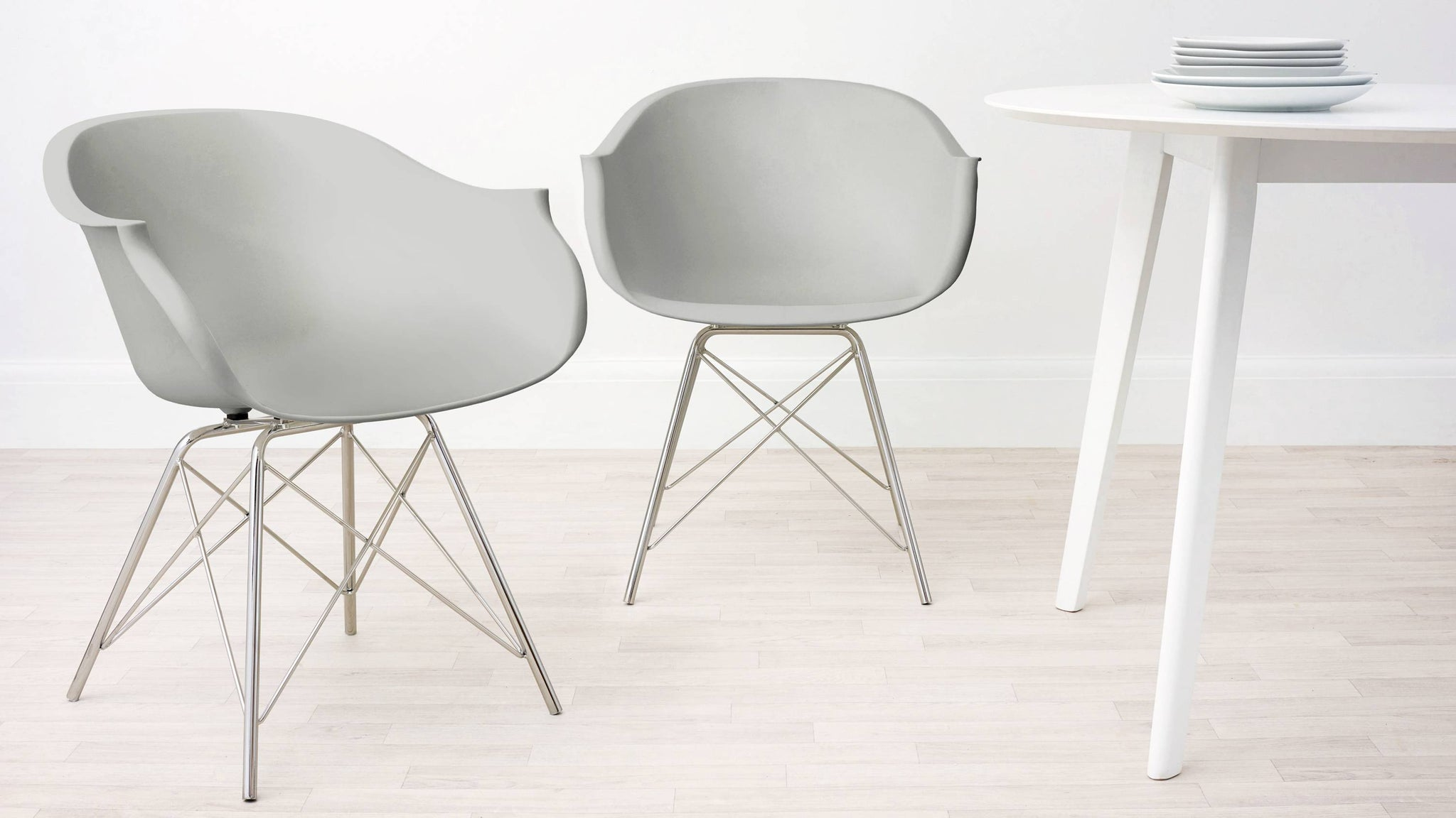 Cool Grey Dining Armchair