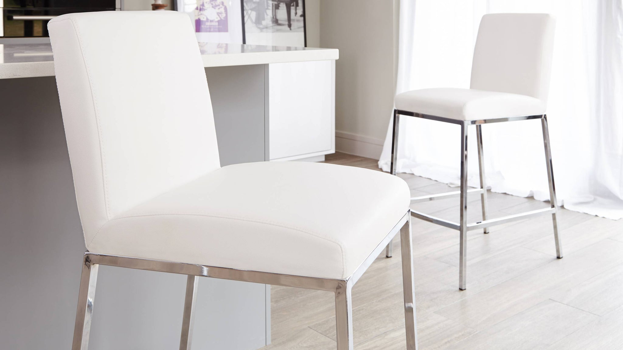 Modern White Bar Stools