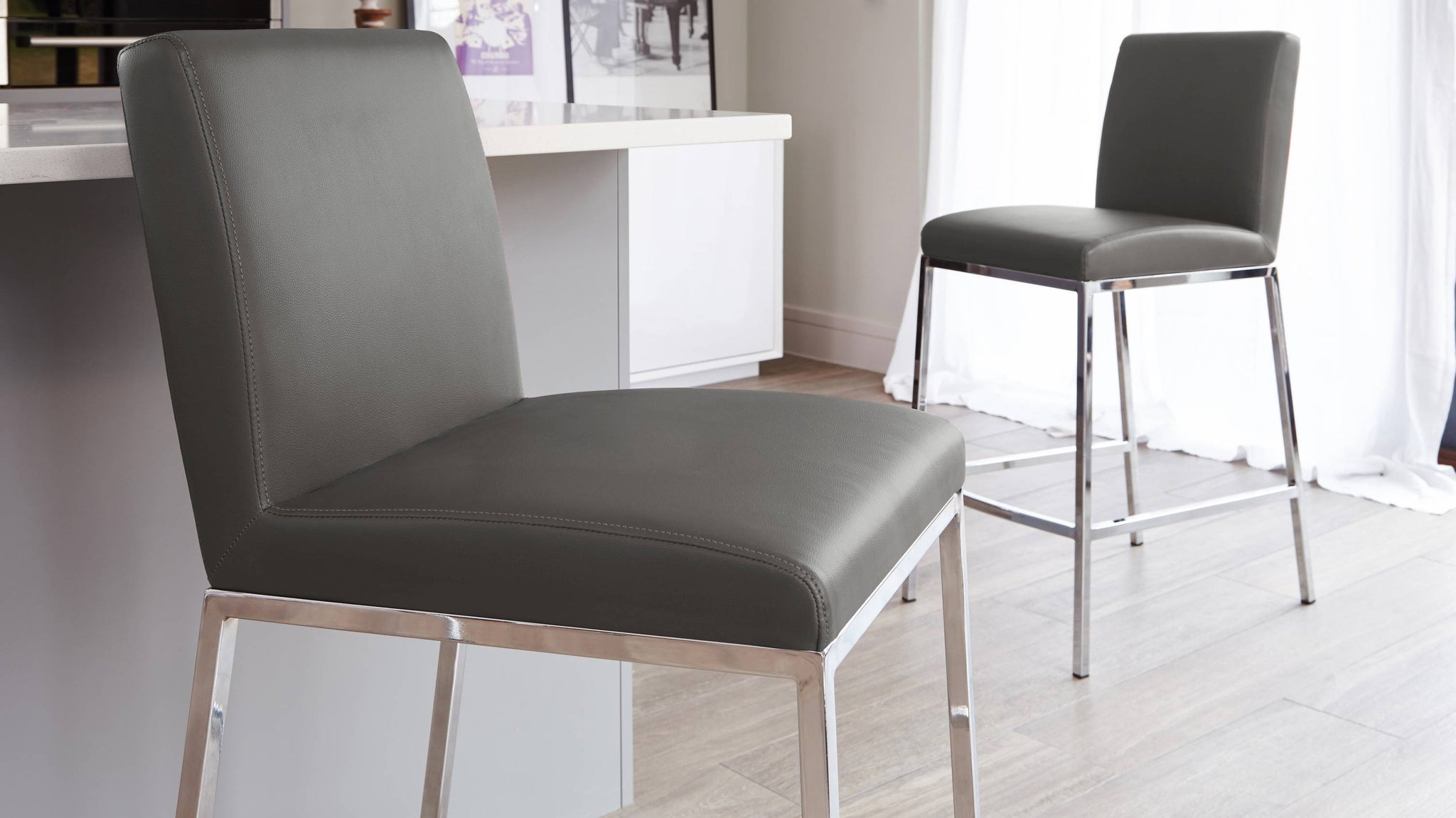 Comfortable Grey Bar Stools UK