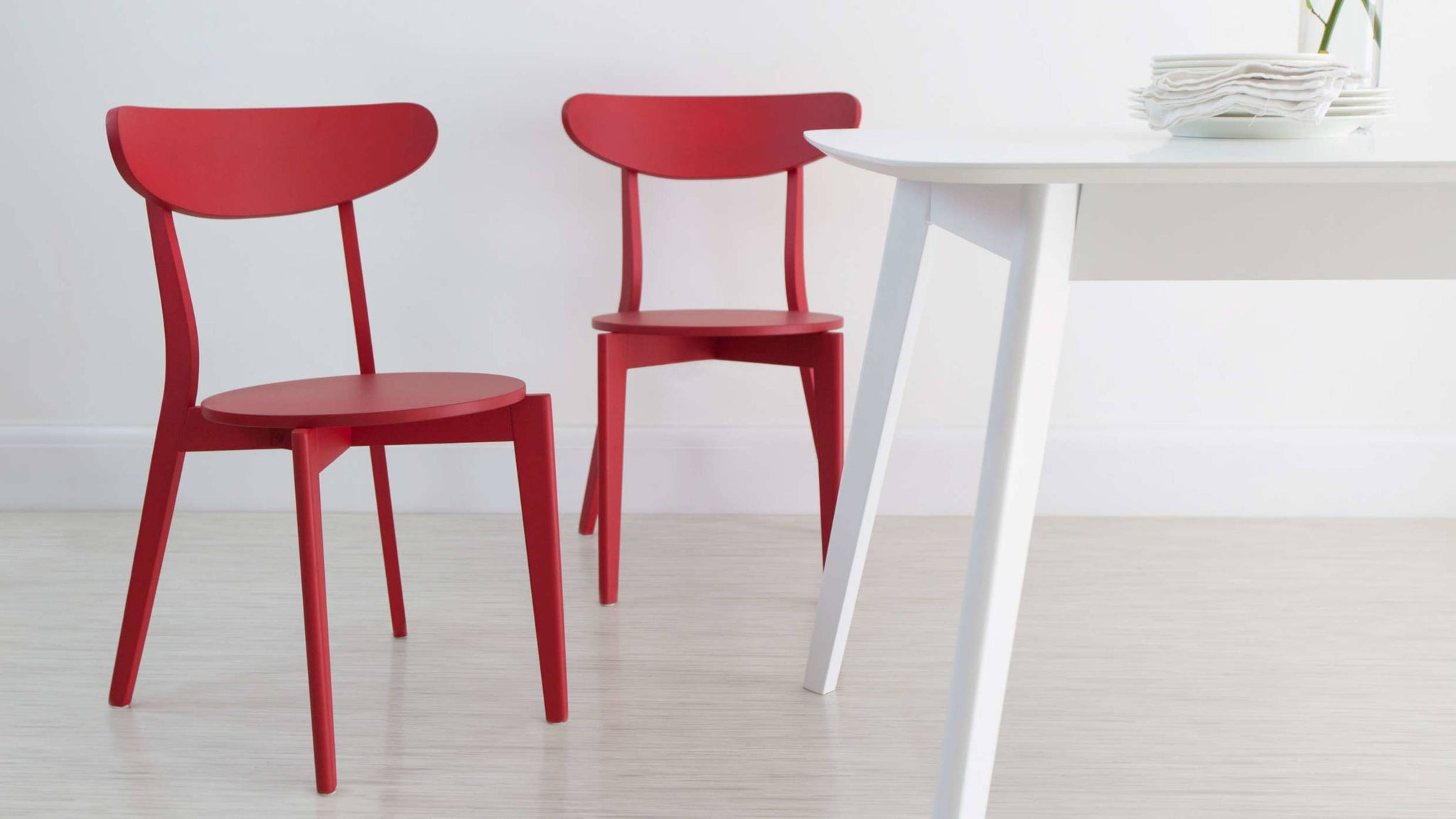 Red Colourful Kitchen Dining Chair