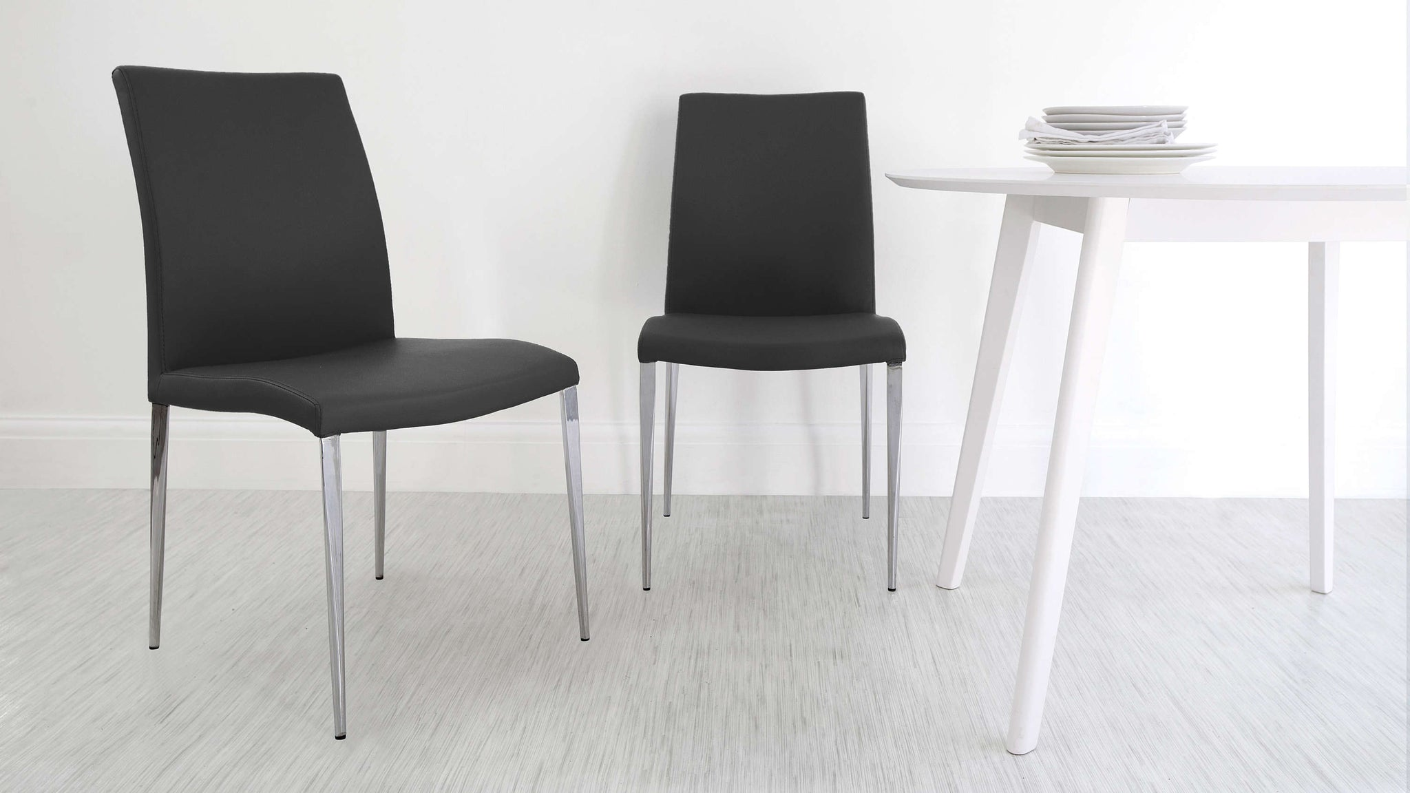 High Backed Black Dining Chairs