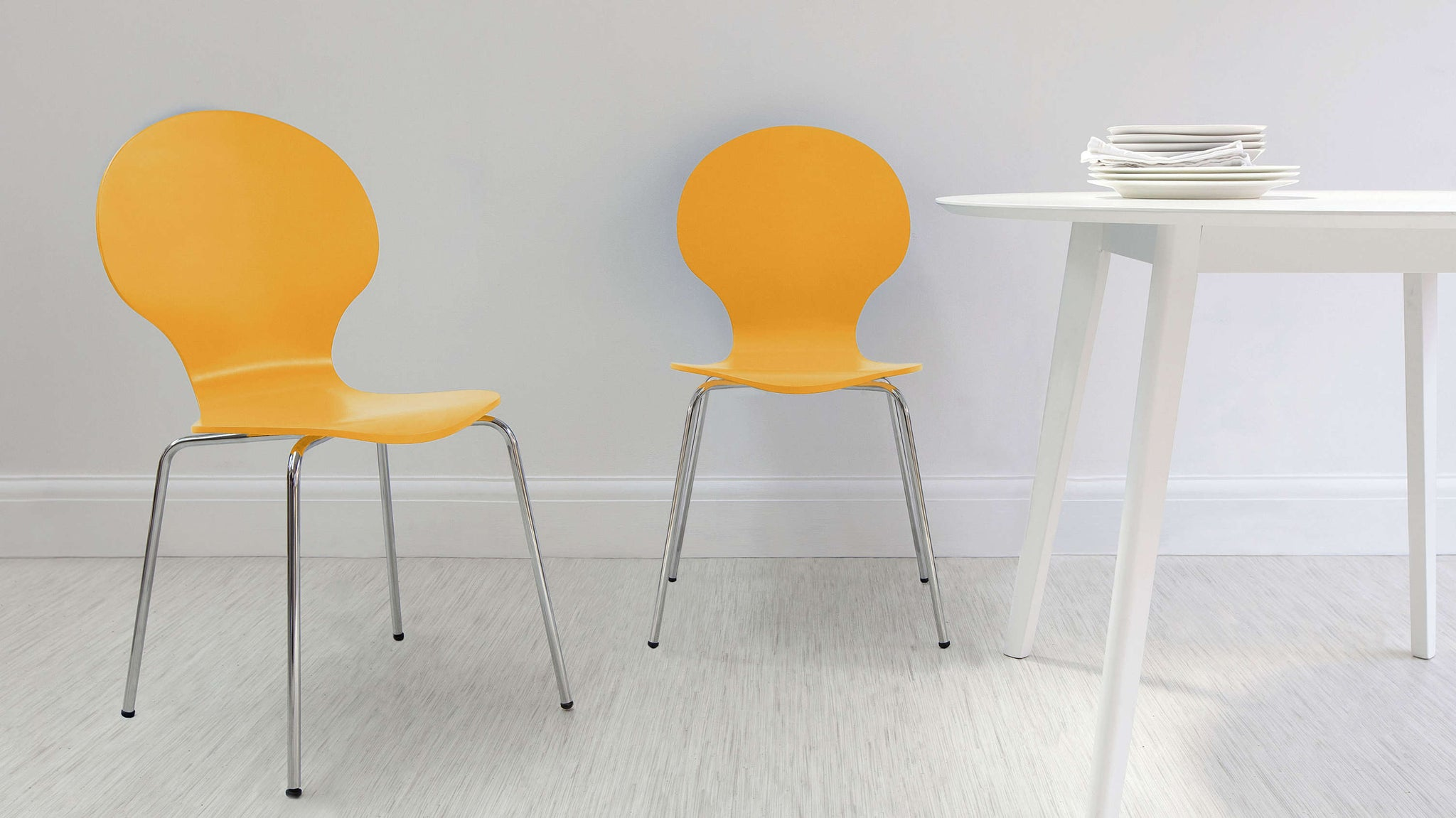 Comfortable Dining Chairs with Chrome Legs