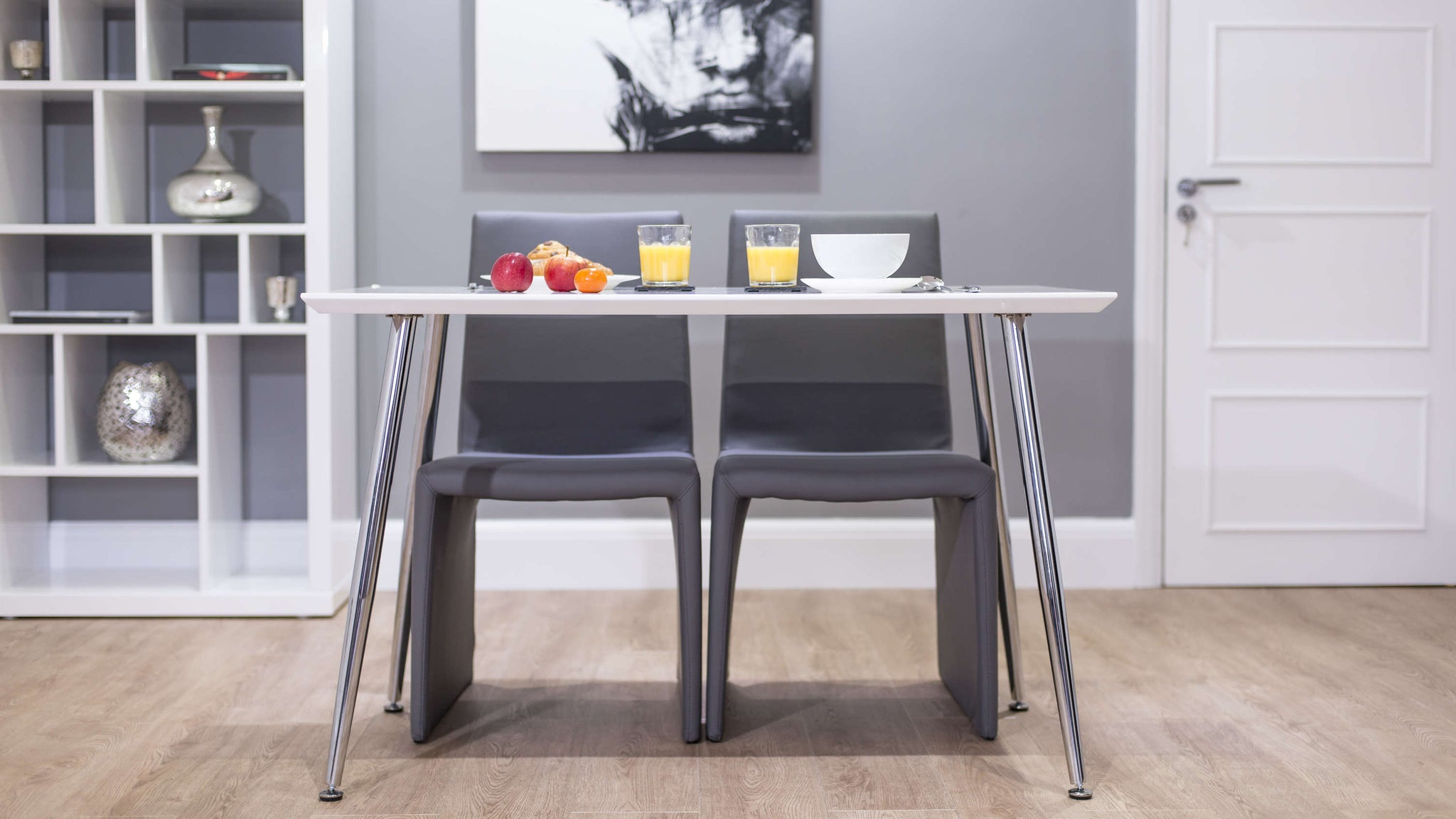 Contemporary Dining Chairs and Small Dining Table