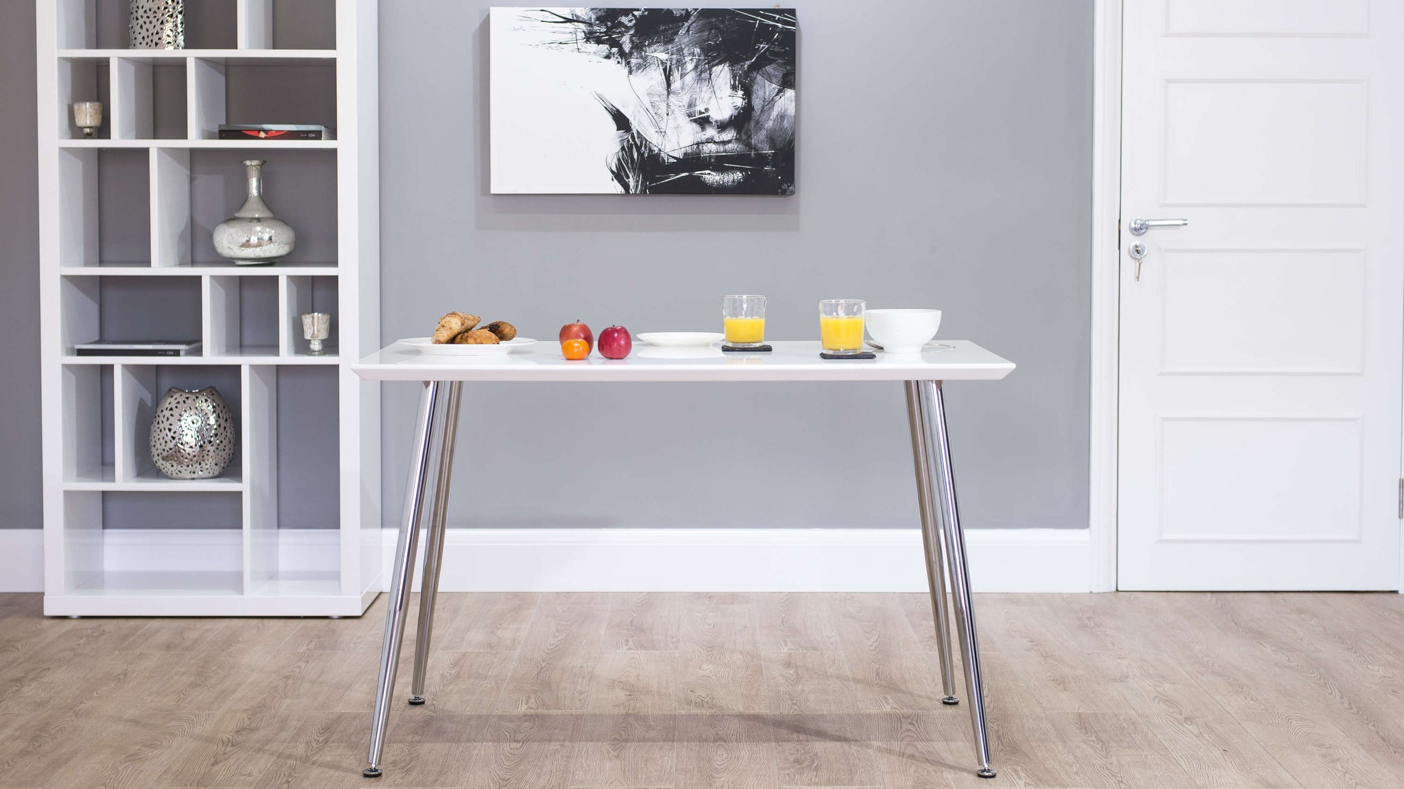 Modern Small White Gloss Dining Table