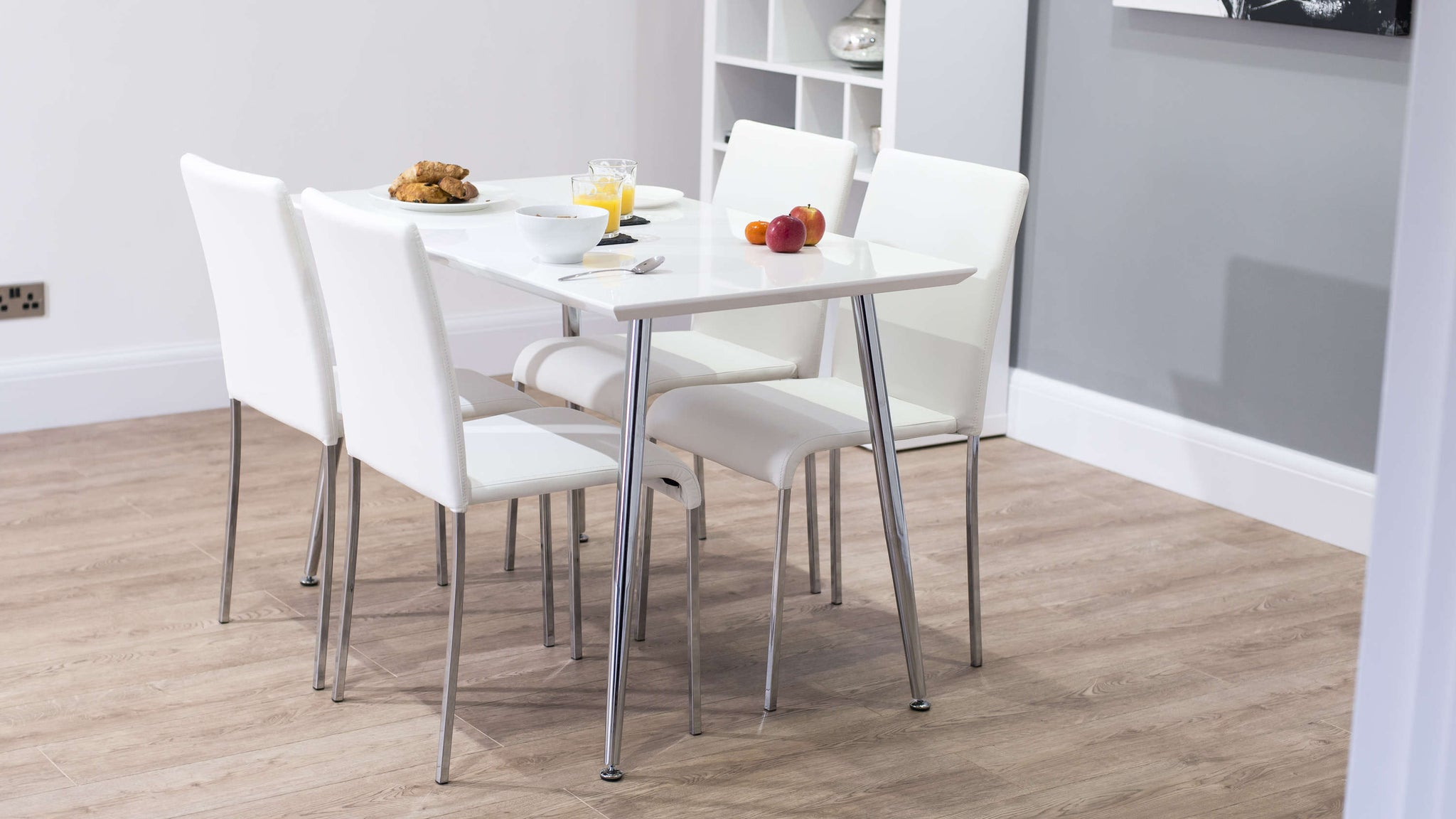 4-6 Seater White Dining Set UK Delivery