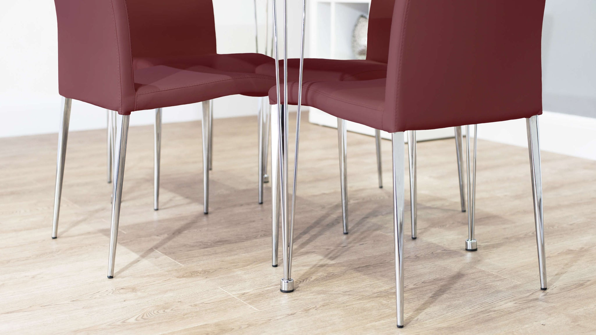 Contemporary Chrome Legged Dining Set