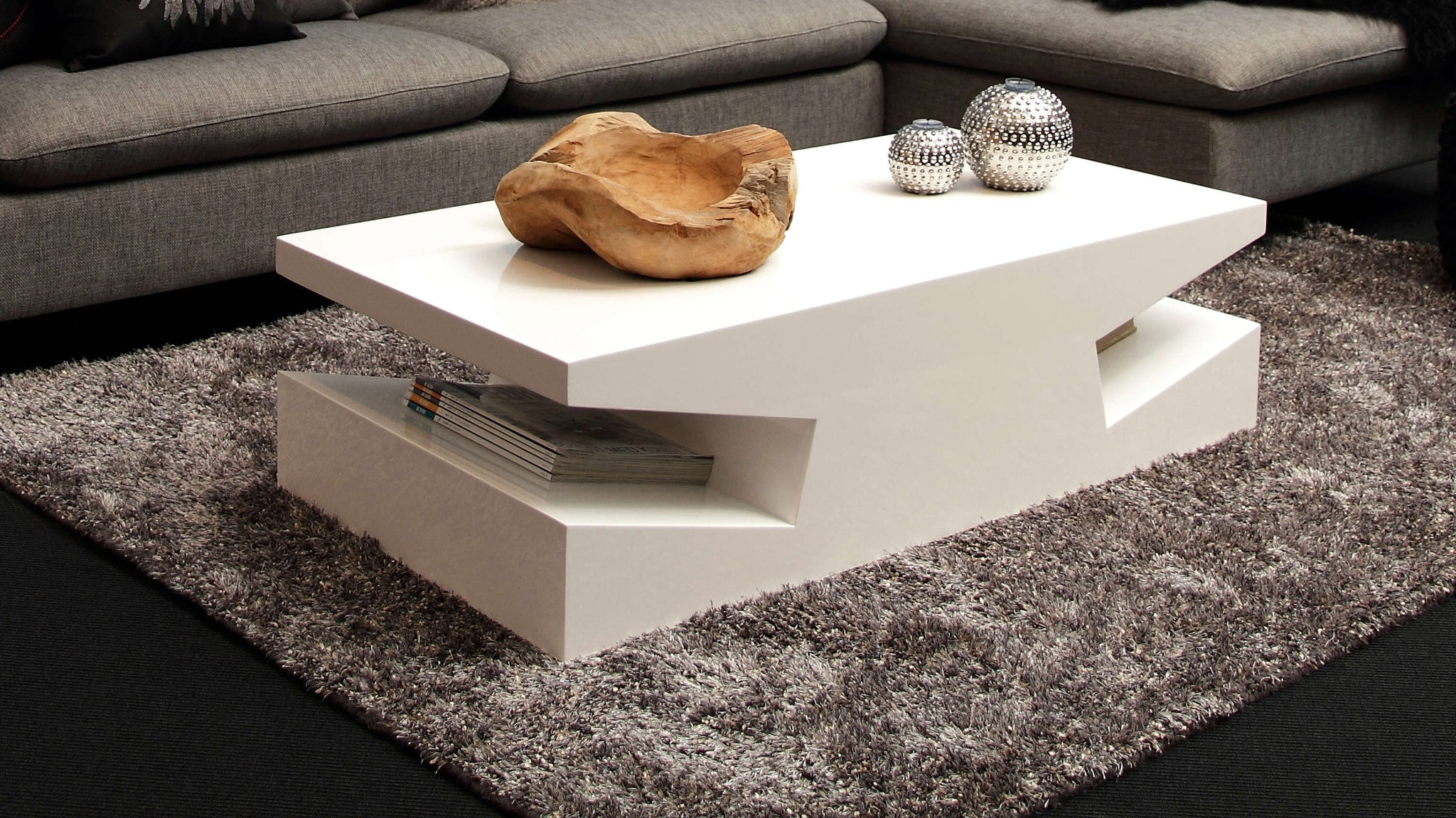Contemporary Styled White Coffee Table