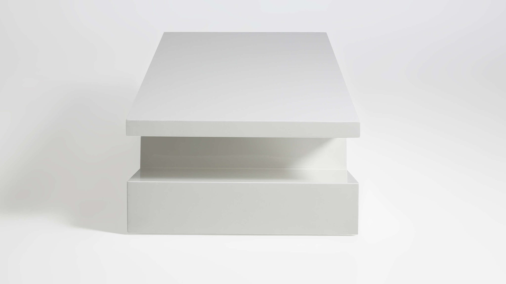 Stylish Shaped White Gloss Coffee Table