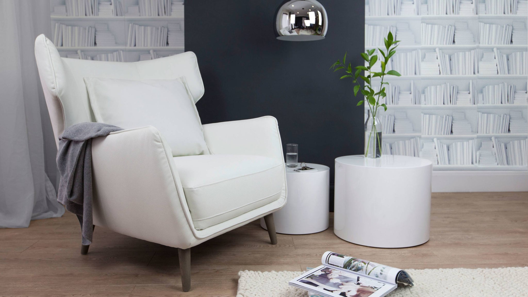 White Large Lounge Chair