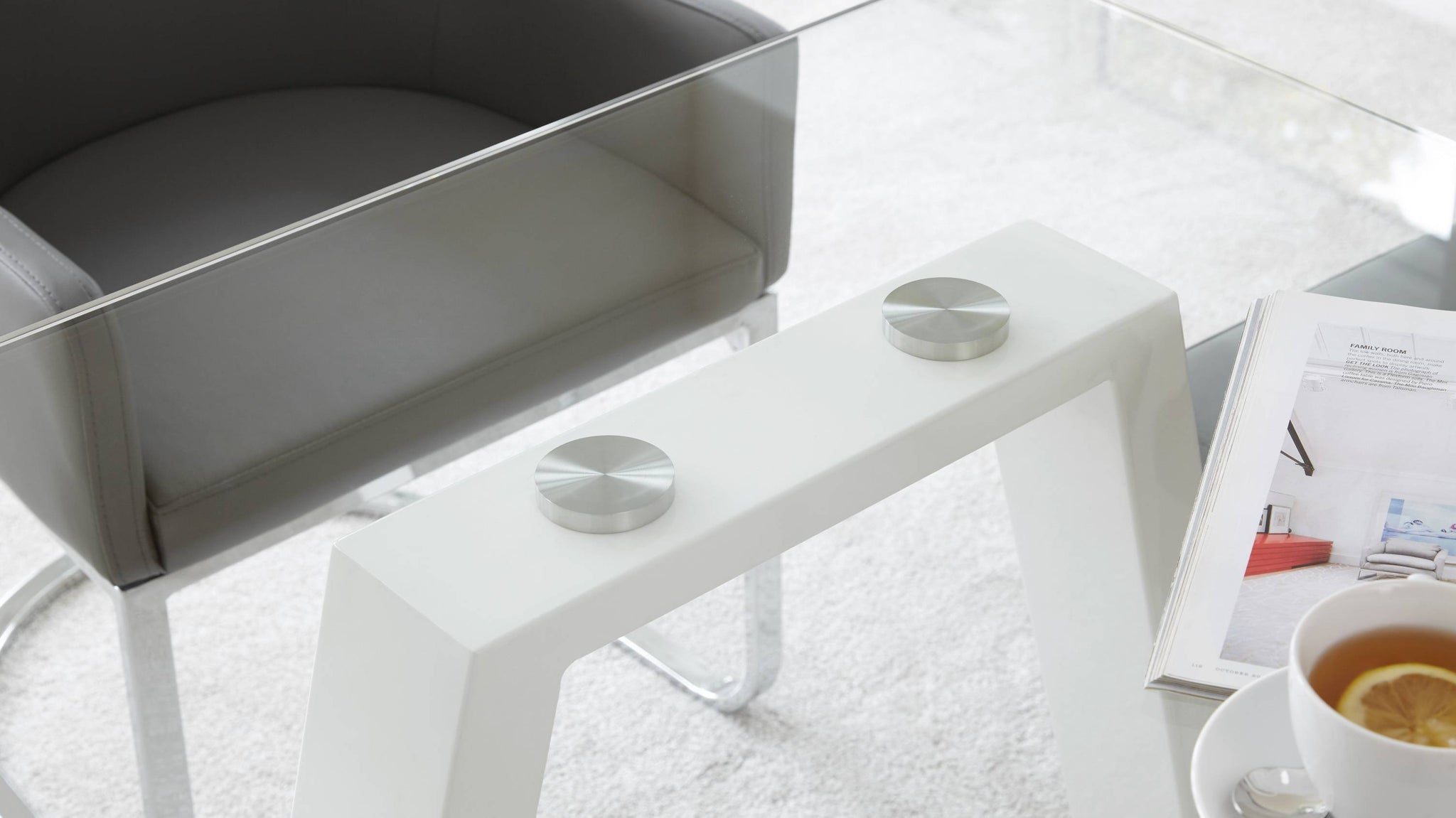 Strong Glass White Gloss Table