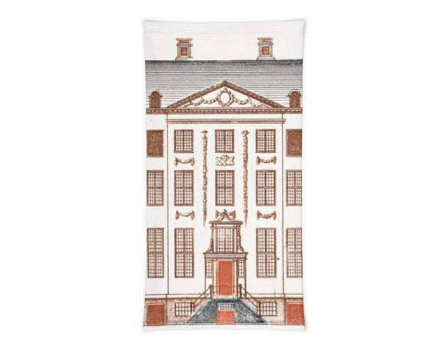 Face Covering-Amsterdam Canal House Design Neck Gaiter-Midnight Sheetcake