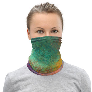 Face Covering-Colorful Galaxy Abstract Paint Print Neck Gaiter-Midnight Sheetcake