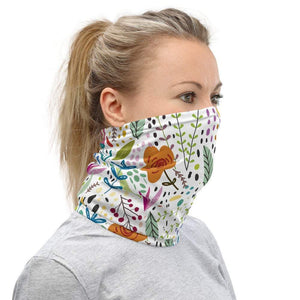 Face Covering-Floral Cartoon Graphic Print Neck Gaiter-Midnight Sheetcake