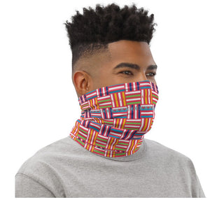 Face Covering-Geometric Parkay X Pattern Print Neck Gaiter-Midnight Sheetcake